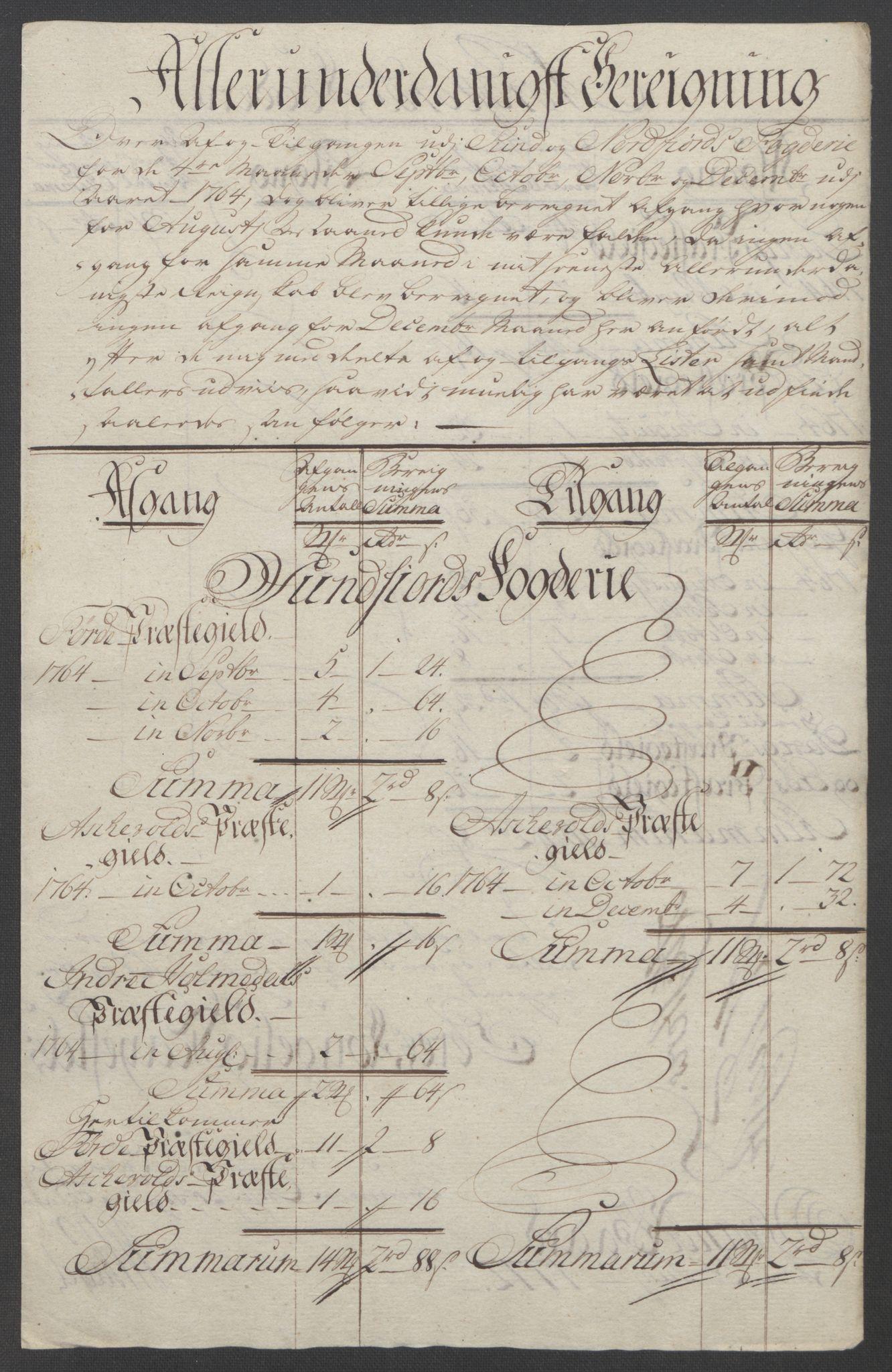 RA, Rentekammeret inntil 1814, Reviderte regnskaper, Fogderegnskap, R53/L3550: Ekstraskatten Sunn- og Nordfjord, 1762-1771, s. 131