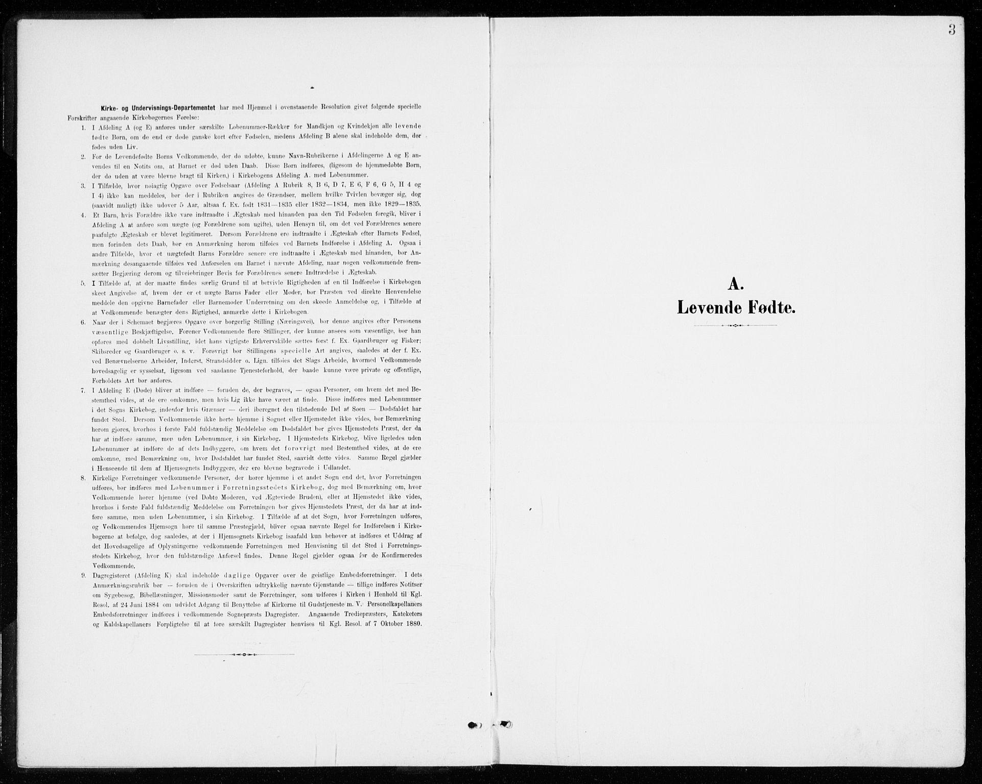 SAO, Gjerdrum prestekontor Kirkebøker, G/Gb/L0001: Klokkerbok nr. II 1, 1901-1944, s. 3