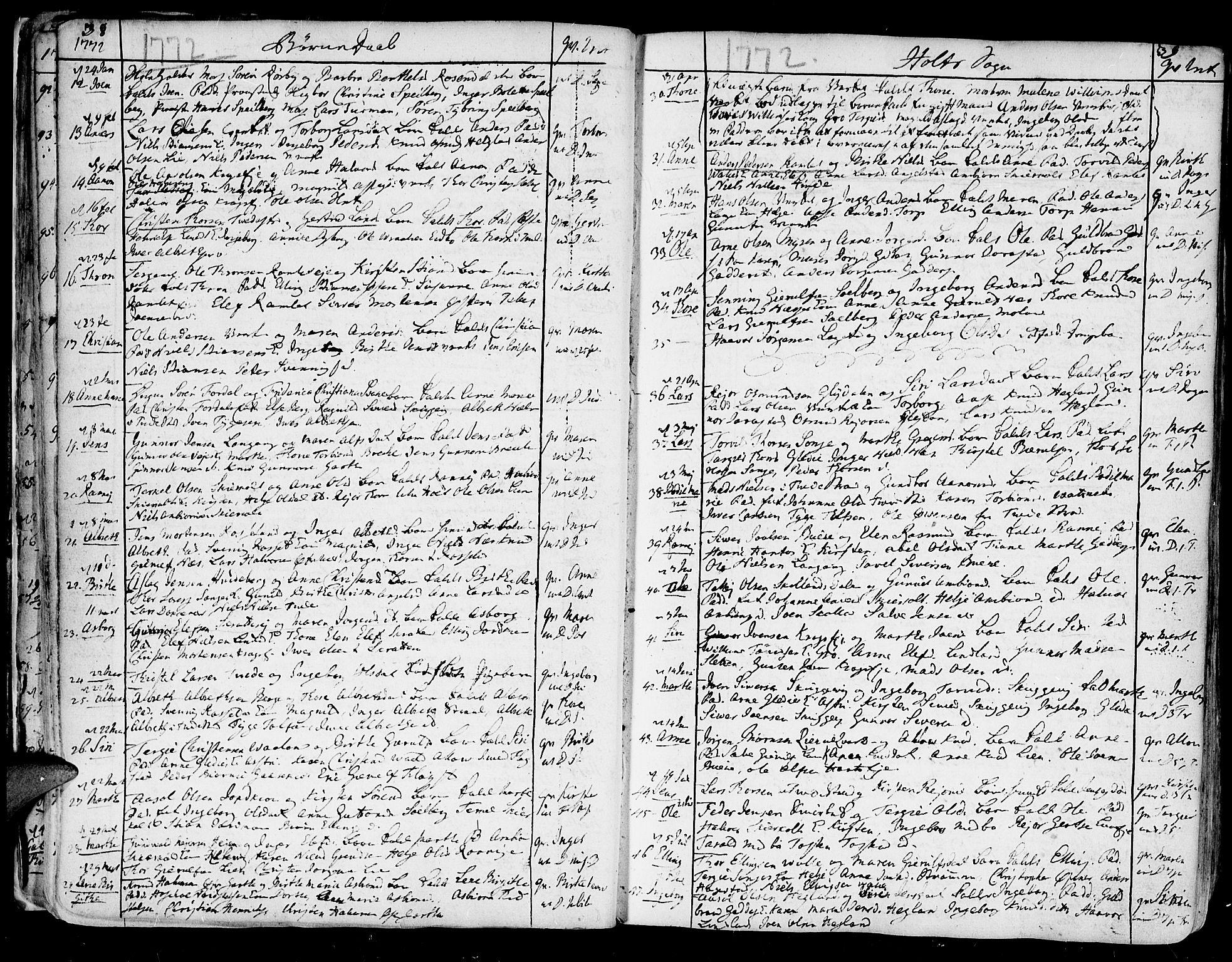 SAK, Holt sokneprestkontor, F/Fa/L0003: Ministerialbok nr. A 3, 1765-1798, s. 38-39