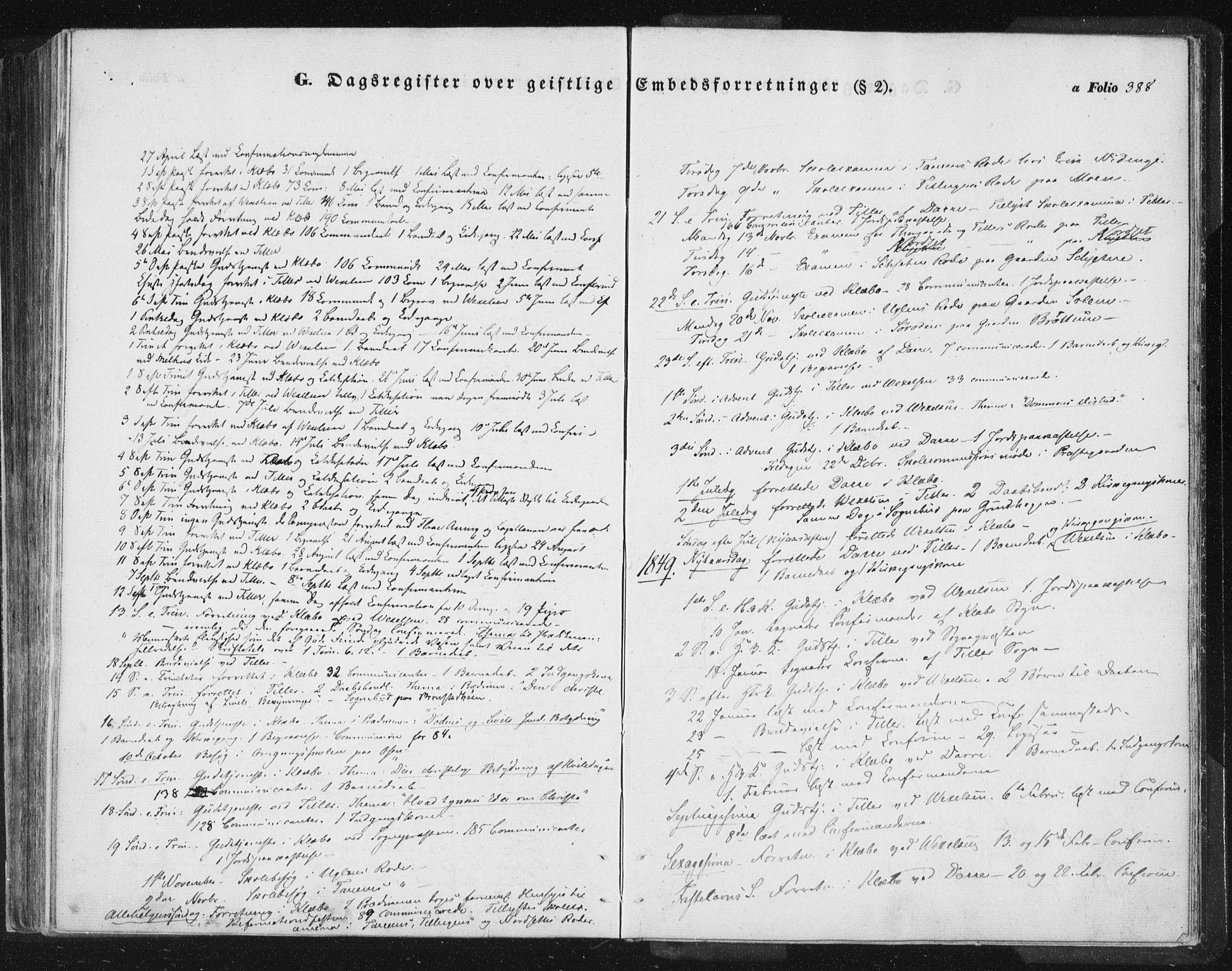 SAT, Ministerialprotokoller, klokkerbøker og fødselsregistre - Sør-Trøndelag, 618/L0441: Ministerialbok nr. 618A05, 1843-1862, s. 388