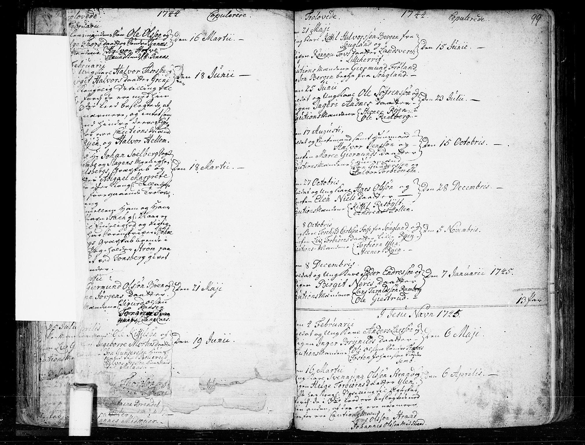 SAKO, Heddal kirkebøker, F/Fa/L0003: Ministerialbok nr. I 3, 1723-1783, s. 99