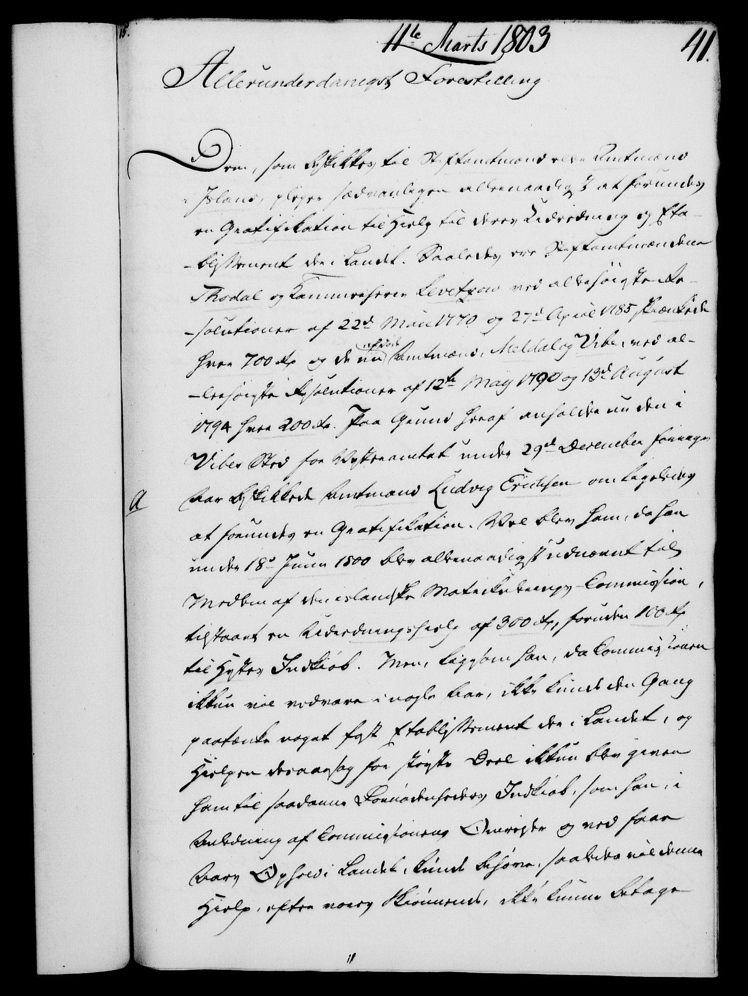 RA, Rentekammeret, Kammerkanselliet, G/Gf/Gfa/L0085: Norsk relasjons- og resolusjonsprotokoll (merket RK 52.85), 1803, s. 276