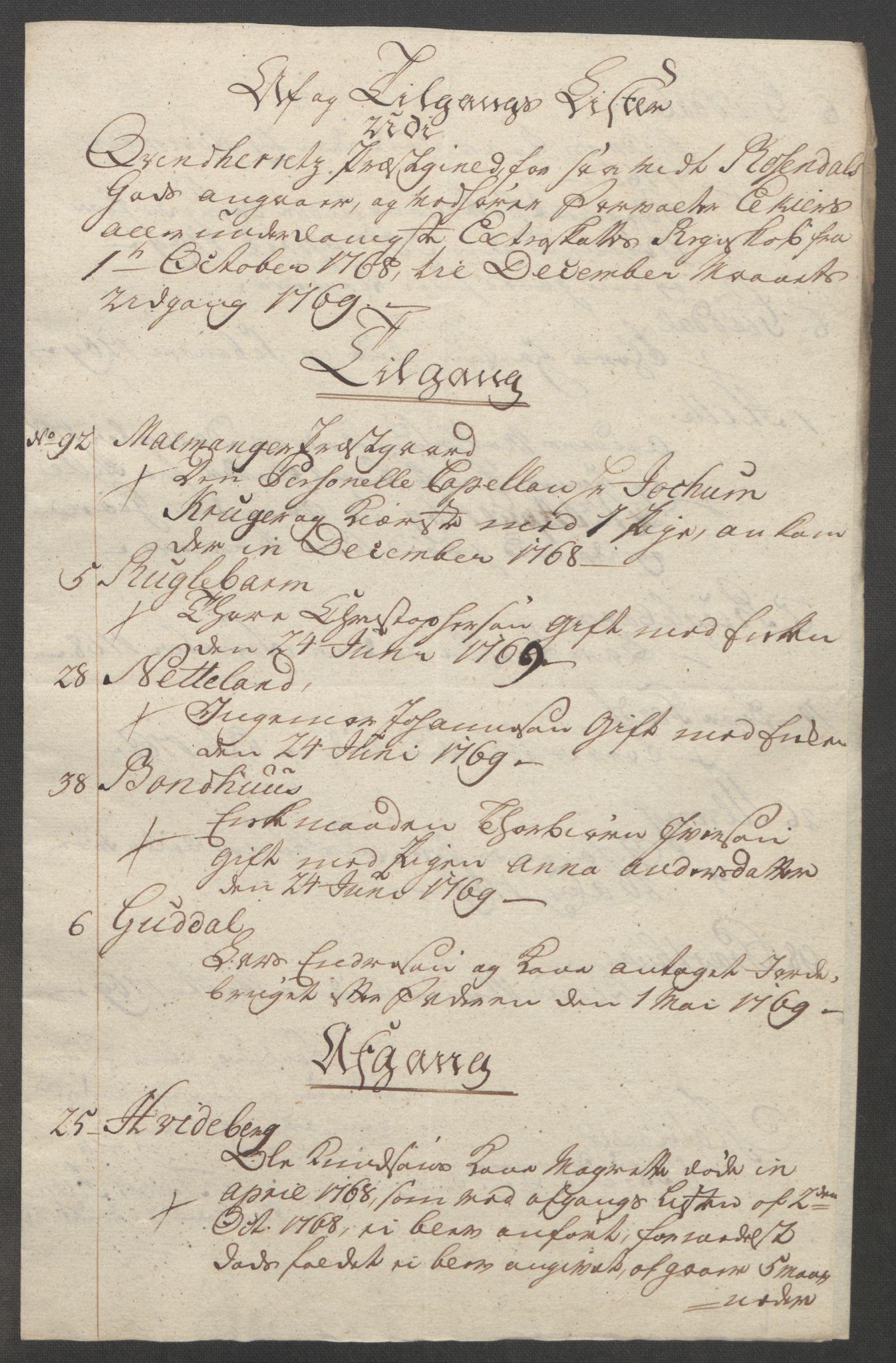 RA, Rentekammeret inntil 1814, Reviderte regnskaper, Fogderegnskap, R49/L3157: Ekstraskatten Rosendal Baroni, 1762-1772, s. 257