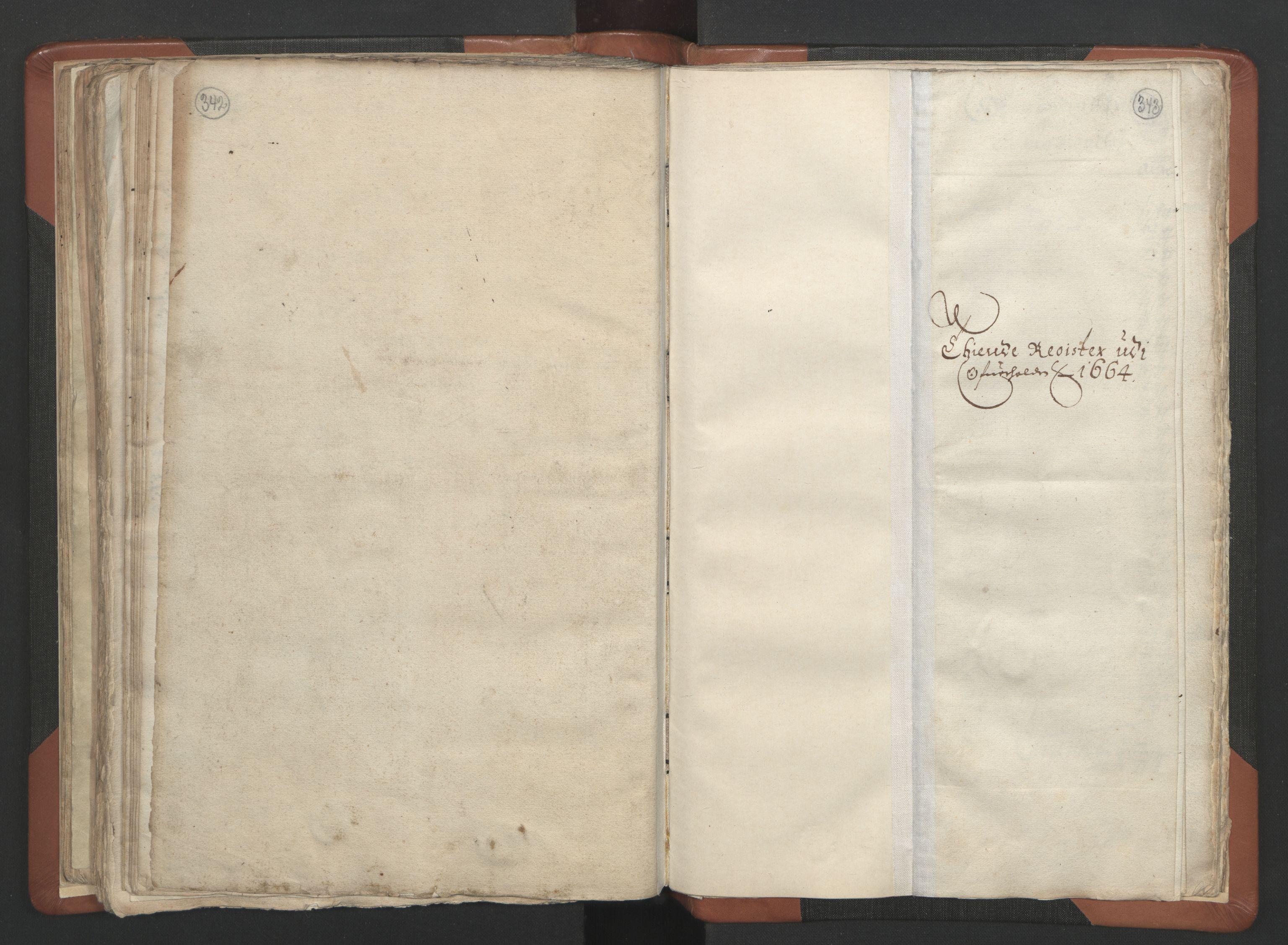 RA, Sogneprestenes manntall 1664-1666, nr. 34: Namdal prosti, 1664-1666, s. 342-343