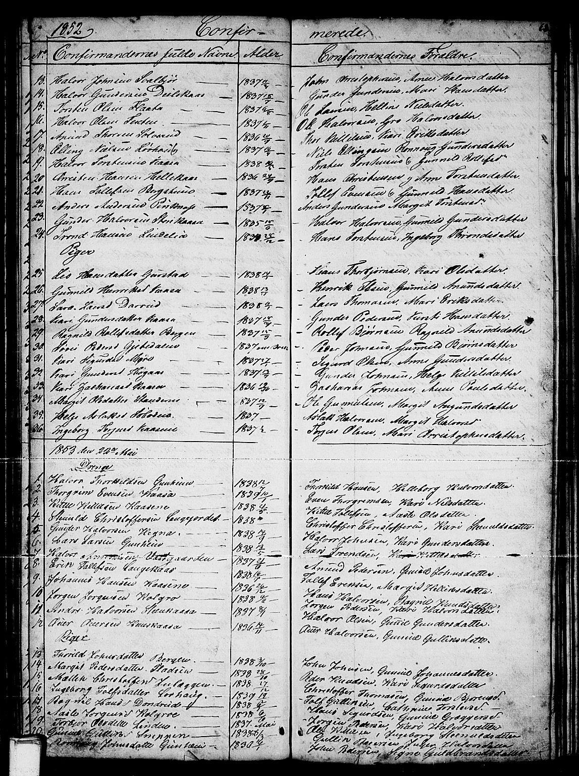 SAKO, Sauherad kirkebøker, G/Gb/L0001: Klokkerbok nr. II 1, 1845-1865, s. 63