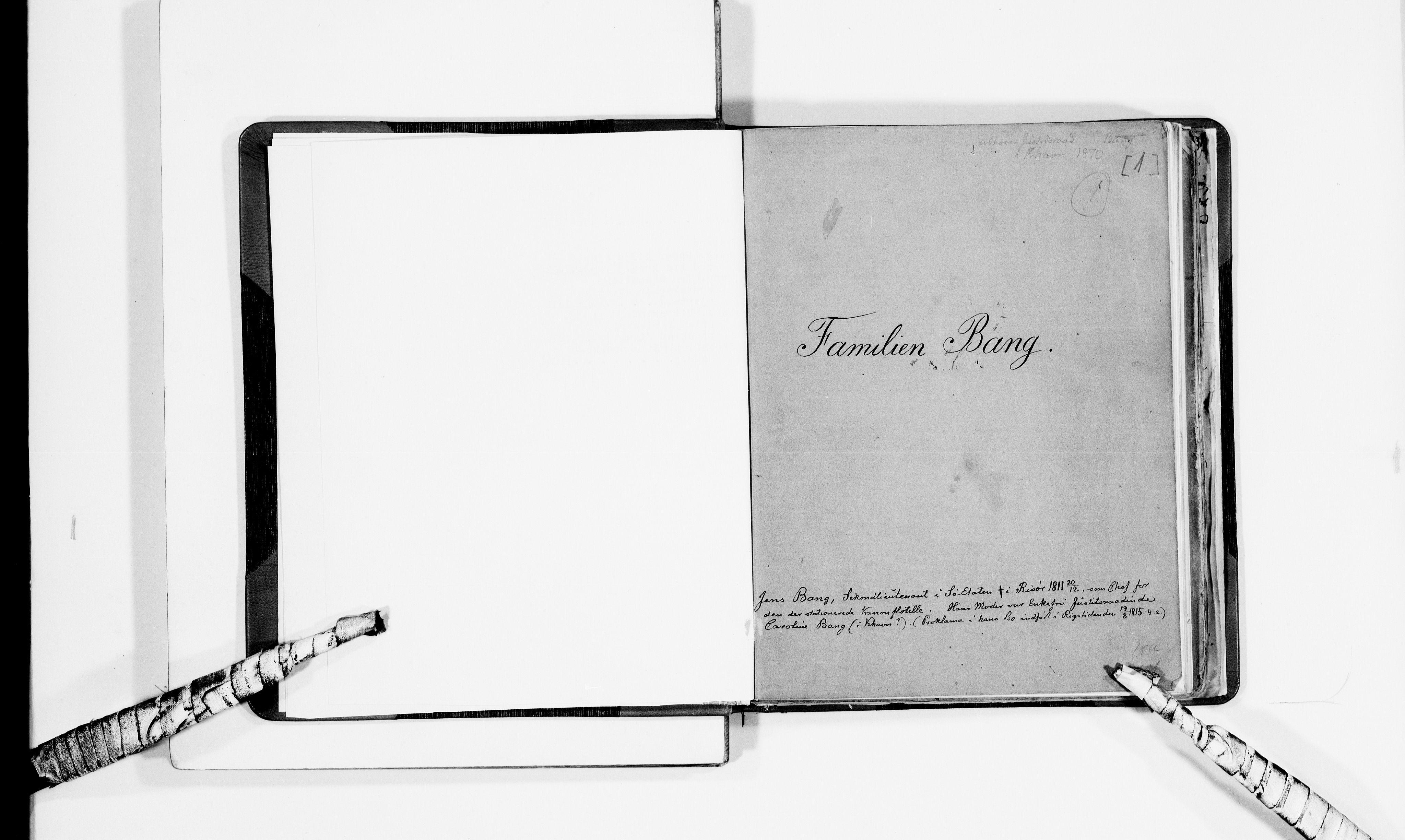 RA, Lassens samlinger, F/Fb, s. 1