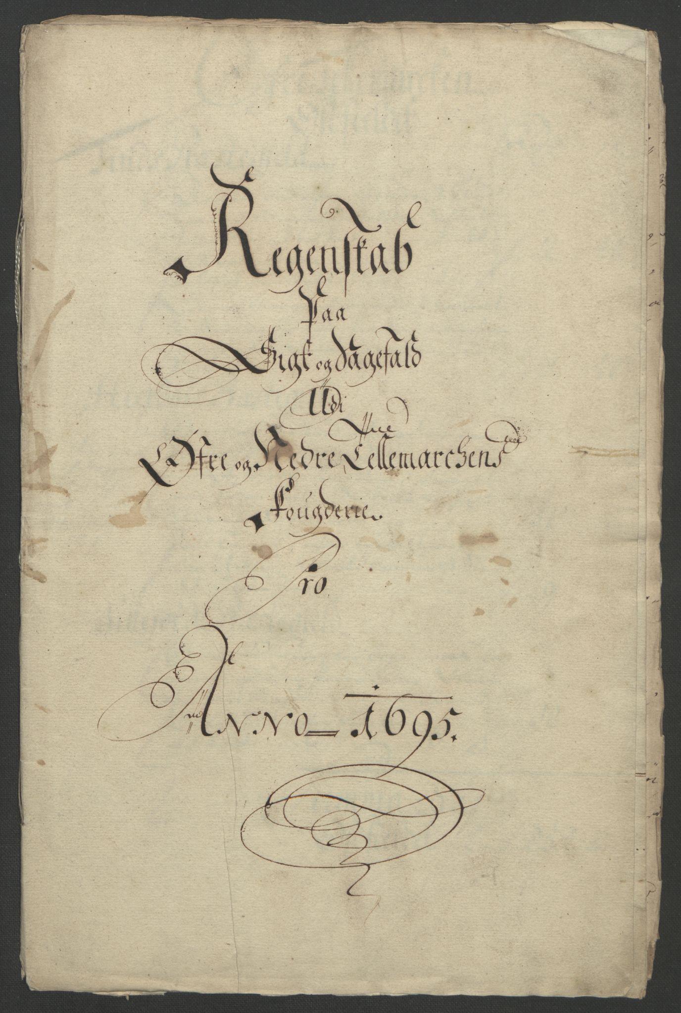 RA, Rentekammeret inntil 1814, Reviderte regnskaper, Fogderegnskap, R36/L2093: Fogderegnskap Øvre og Nedre Telemark og Bamble, 1695, s. 51