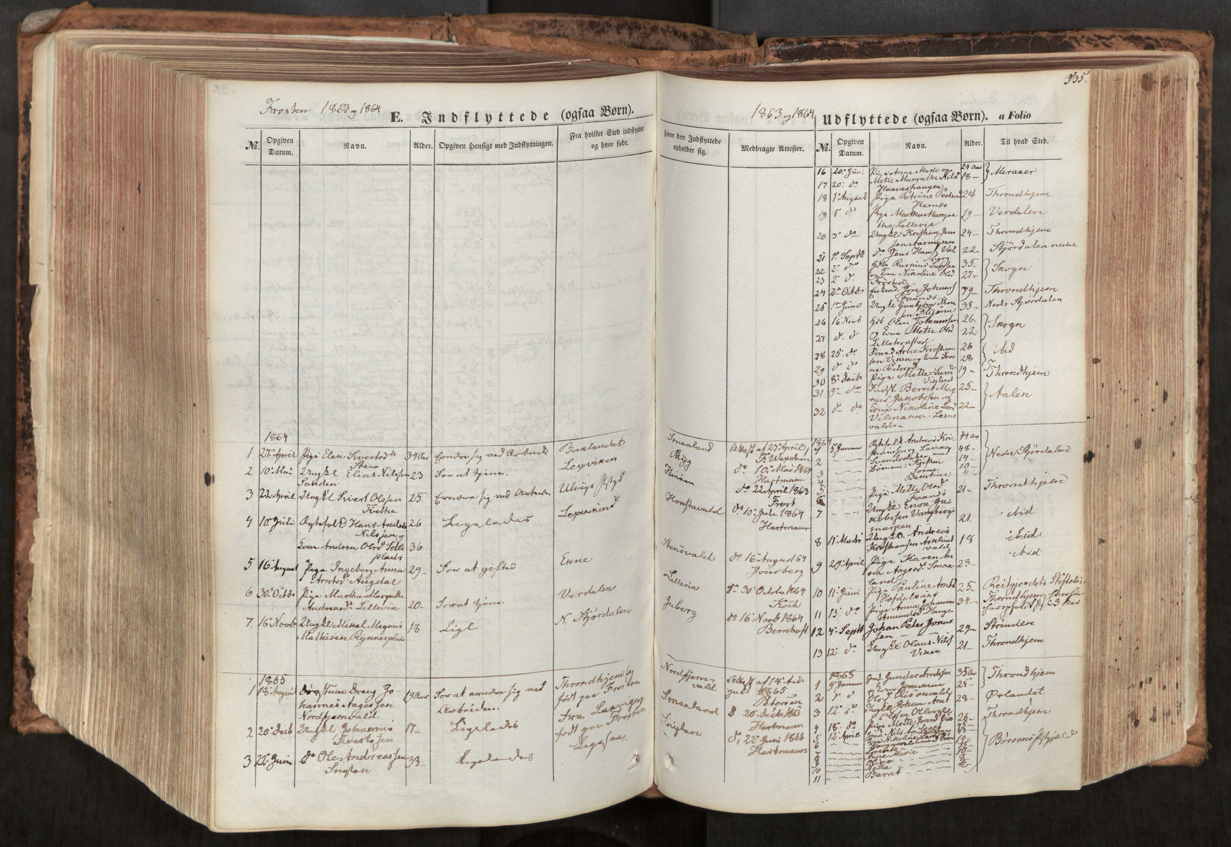 SAT, Ministerialprotokoller, klokkerbøker og fødselsregistre - Nord-Trøndelag, 713/L0116: Ministerialbok nr. 713A07, 1850-1877, s. 535
