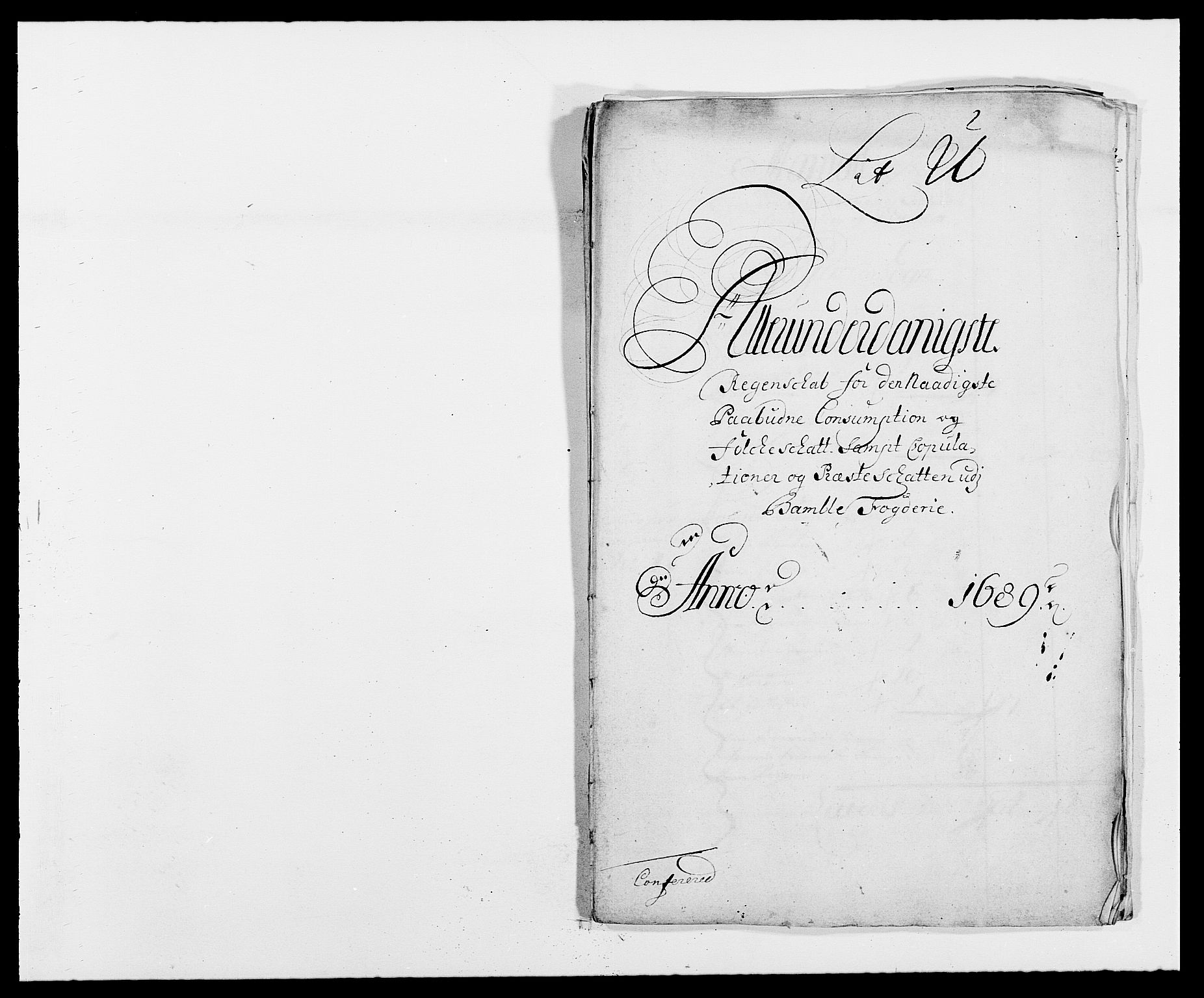 RA, Rentekammeret inntil 1814, Reviderte regnskaper, Fogderegnskap, R34/L2050: Fogderegnskap Bamble, 1688-1691, s. 349