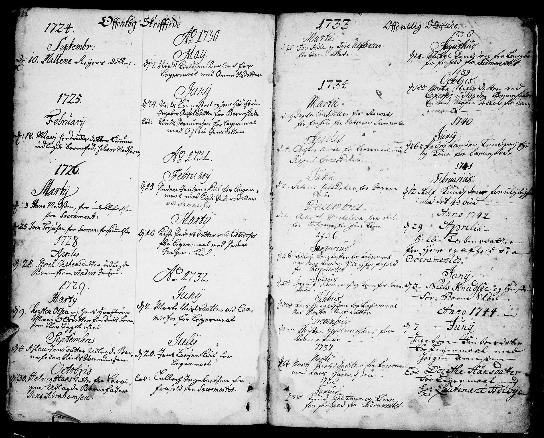 SAKO, Sannidal kirkebøker, F/Fa/L0001: Ministerialbok nr. 1, 1702-1766, s. 352-353