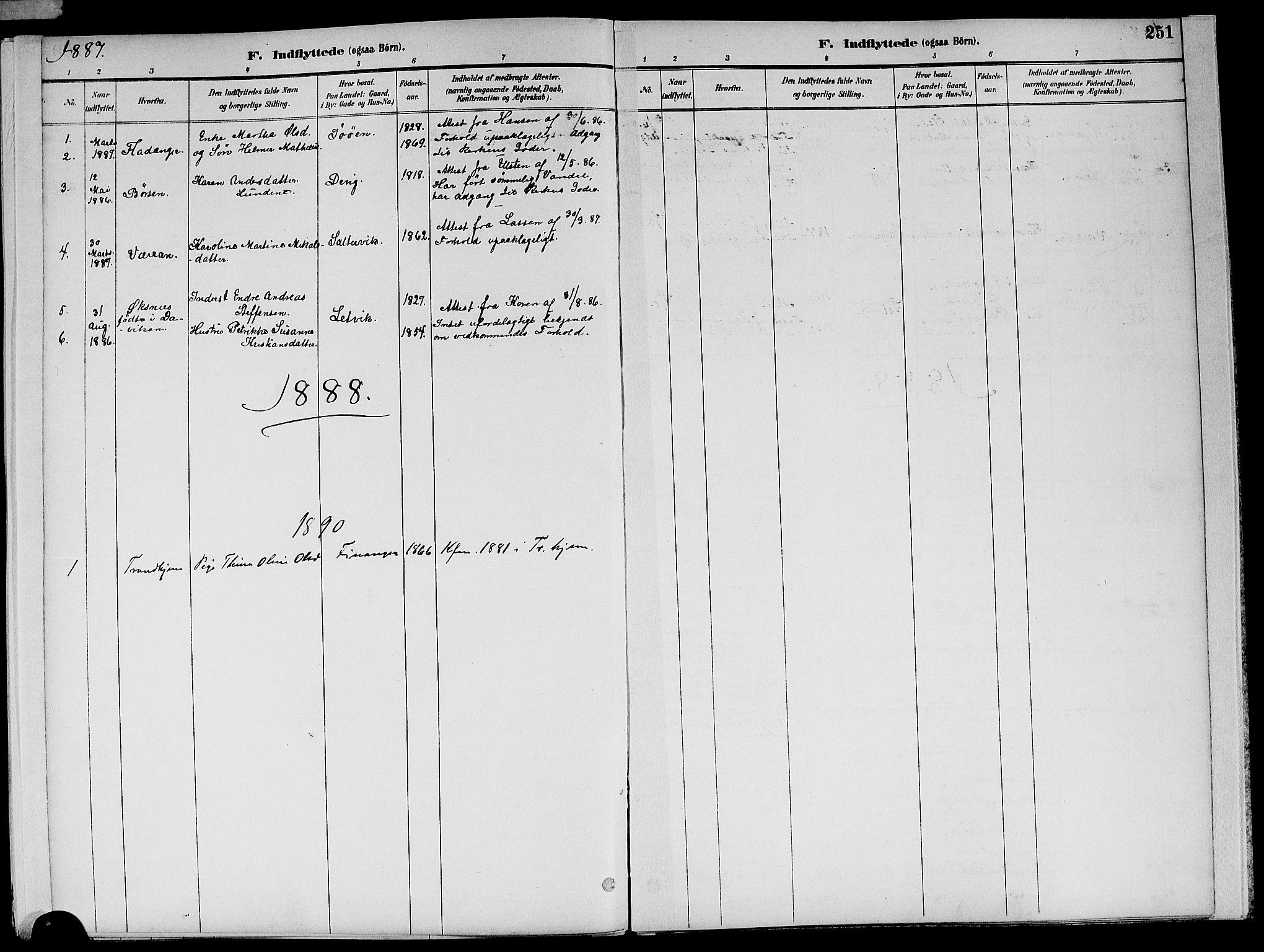 SAT, Ministerialprotokoller, klokkerbøker og fødselsregistre - Nord-Trøndelag, 773/L0617: Ministerialbok nr. 773A08, 1887-1910, s. 251