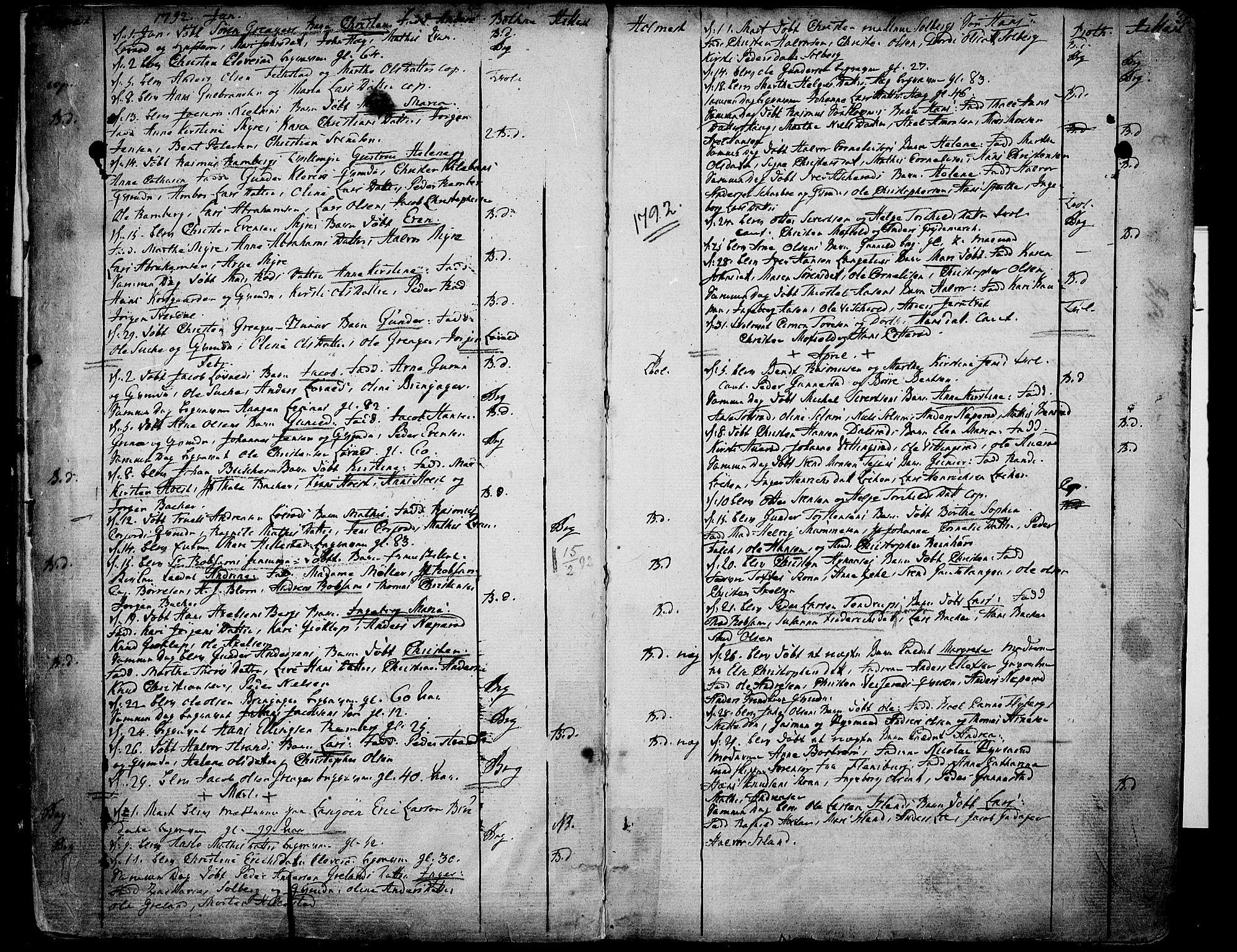 SAKO, Botne kirkebøker, F/Fa/L0003: Ministerialbok nr. I 3 /1, 1792-1844, s. 2-3