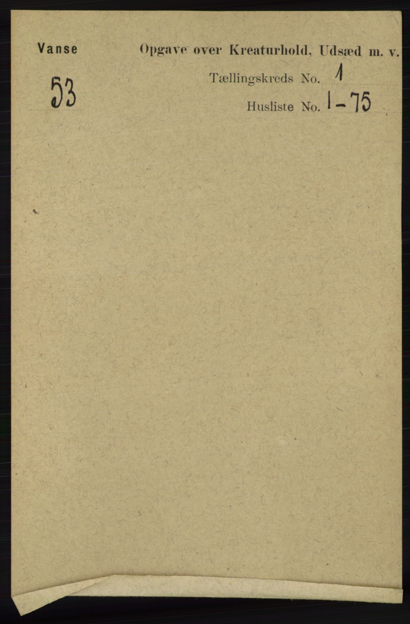 RA, Folketelling 1891 for 1041 Vanse herred, 1891, s. 7802
