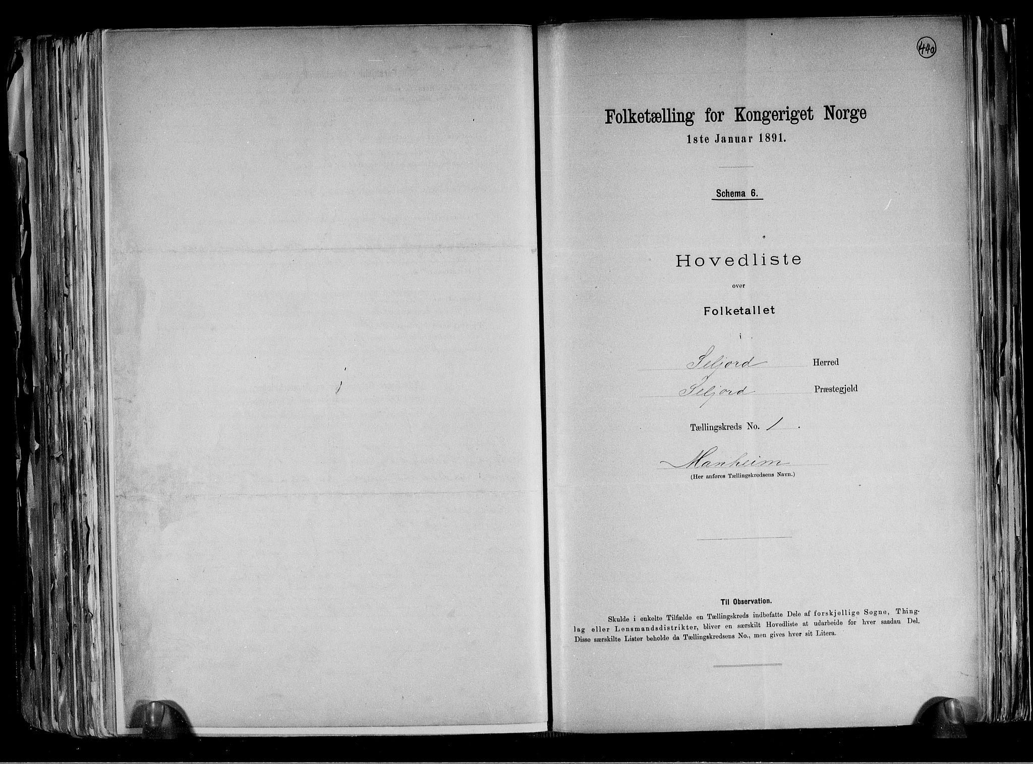 RA, Folketelling 1891 for 0828 Seljord herred, 1891, s. 4