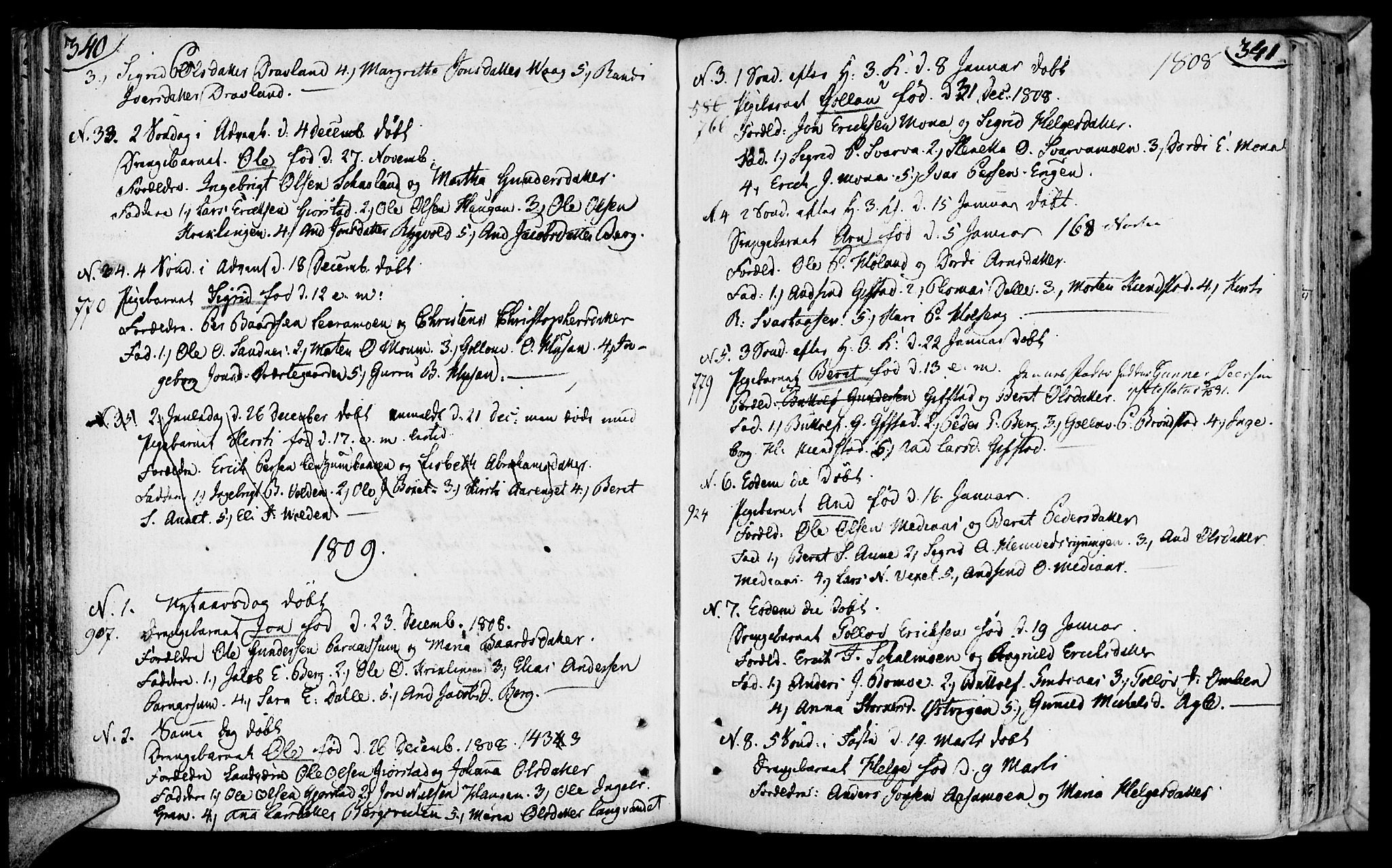 SAT, Ministerialprotokoller, klokkerbøker og fødselsregistre - Nord-Trøndelag, 749/L0468: Ministerialbok nr. 749A02, 1787-1817, s. 340-341