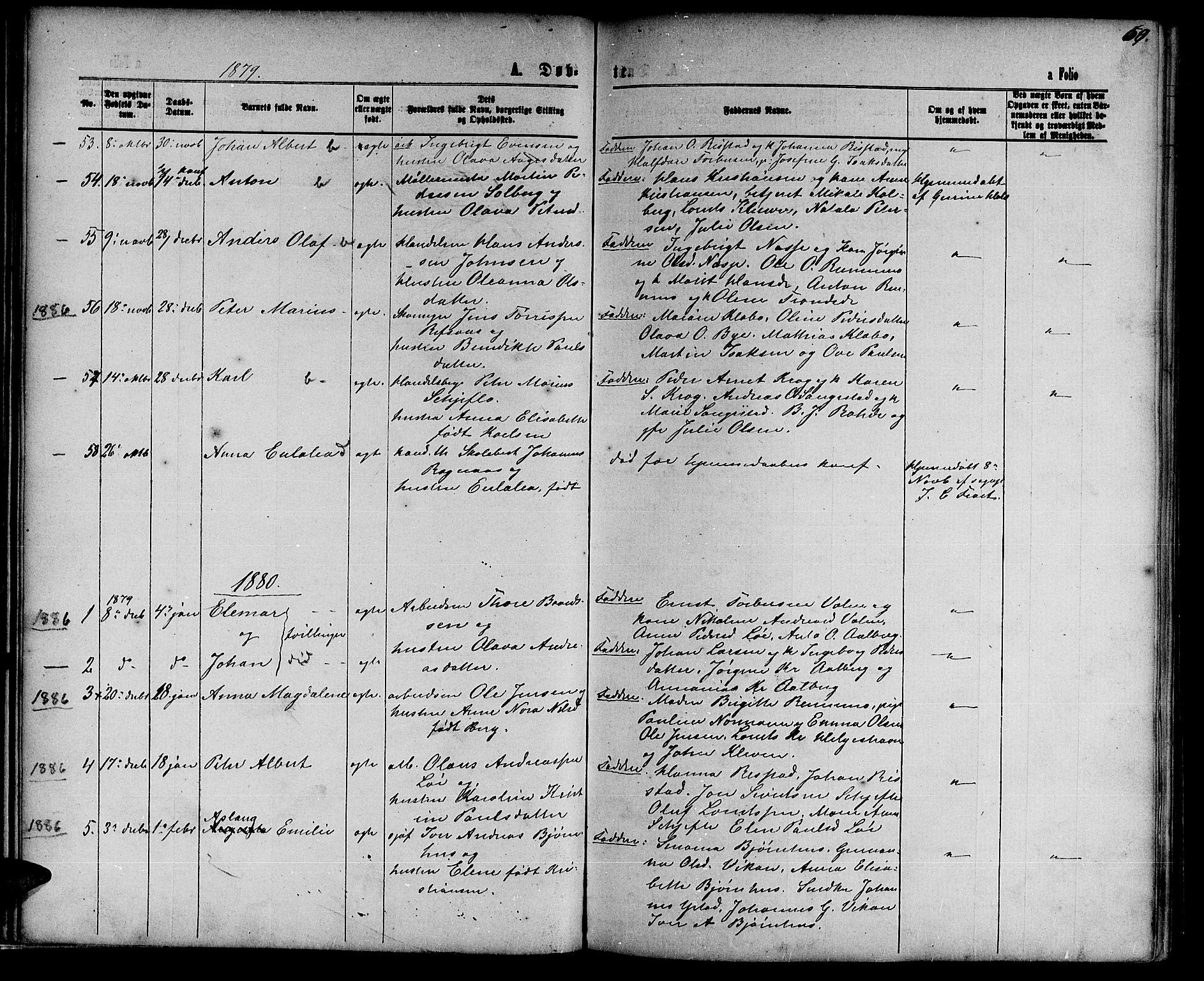 SAT, Ministerialprotokoller, klokkerbøker og fødselsregistre - Nord-Trøndelag, 739/L0373: Klokkerbok nr. 739C01, 1865-1882, s. 60