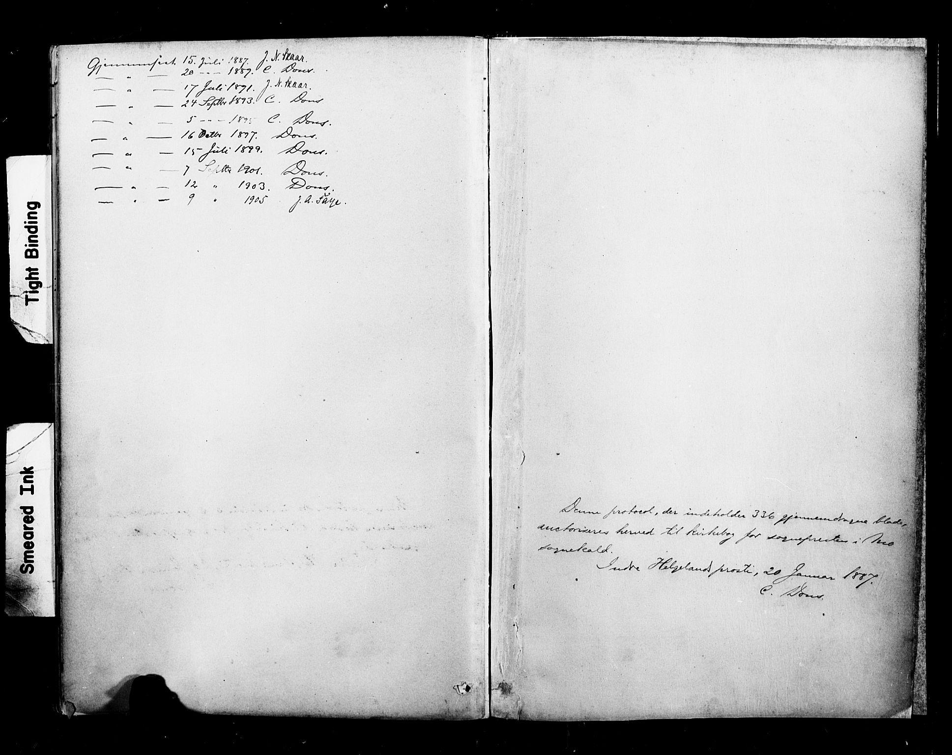 SAT, Ministerialprotokoller, klokkerbøker og fødselsregistre - Nordland, 827/L0401: Ministerialbok nr. 827A13, 1887-1905