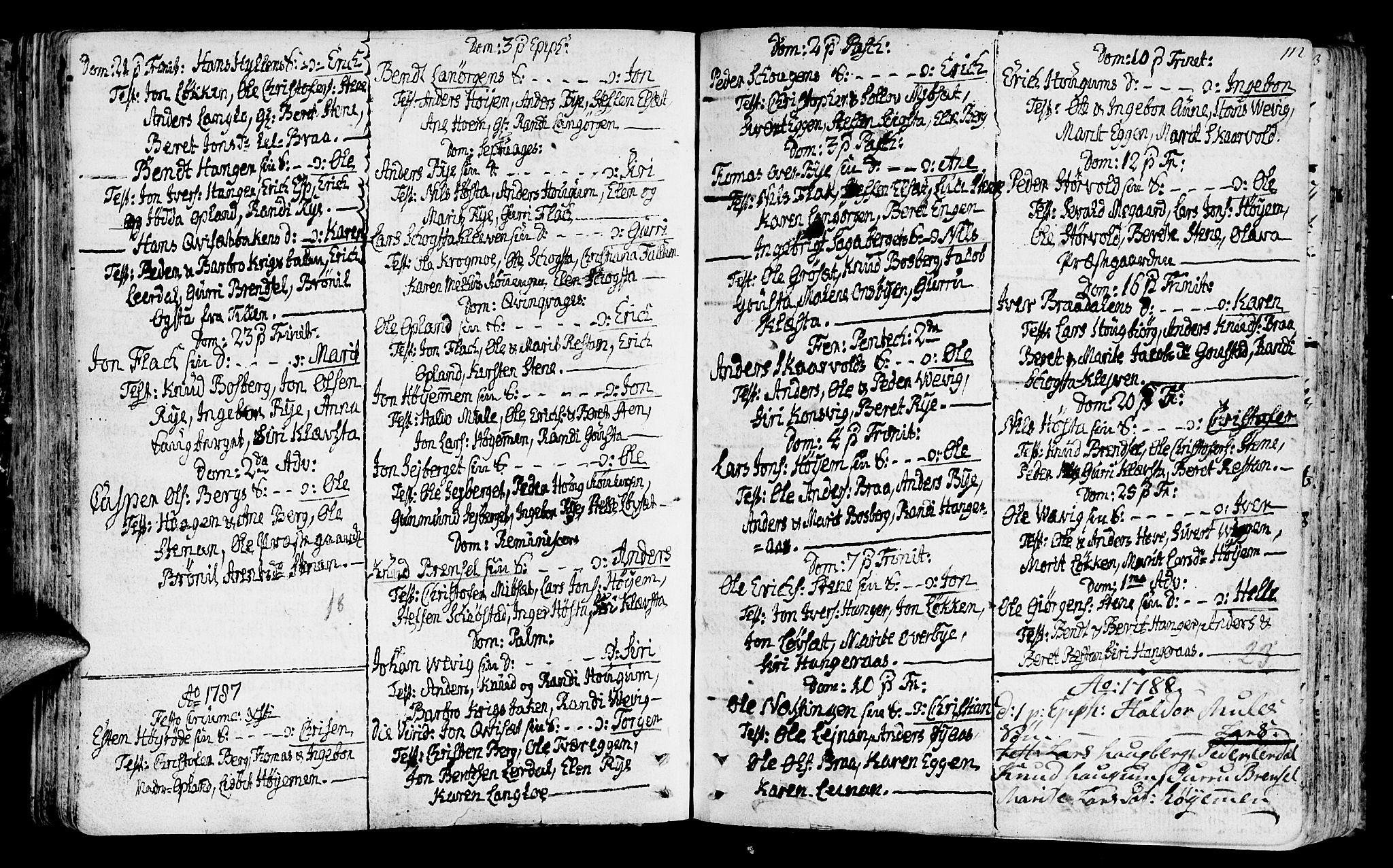 SAT, Ministerialprotokoller, klokkerbøker og fødselsregistre - Sør-Trøndelag, 612/L0370: Ministerialbok nr. 612A04, 1754-1802, s. 112