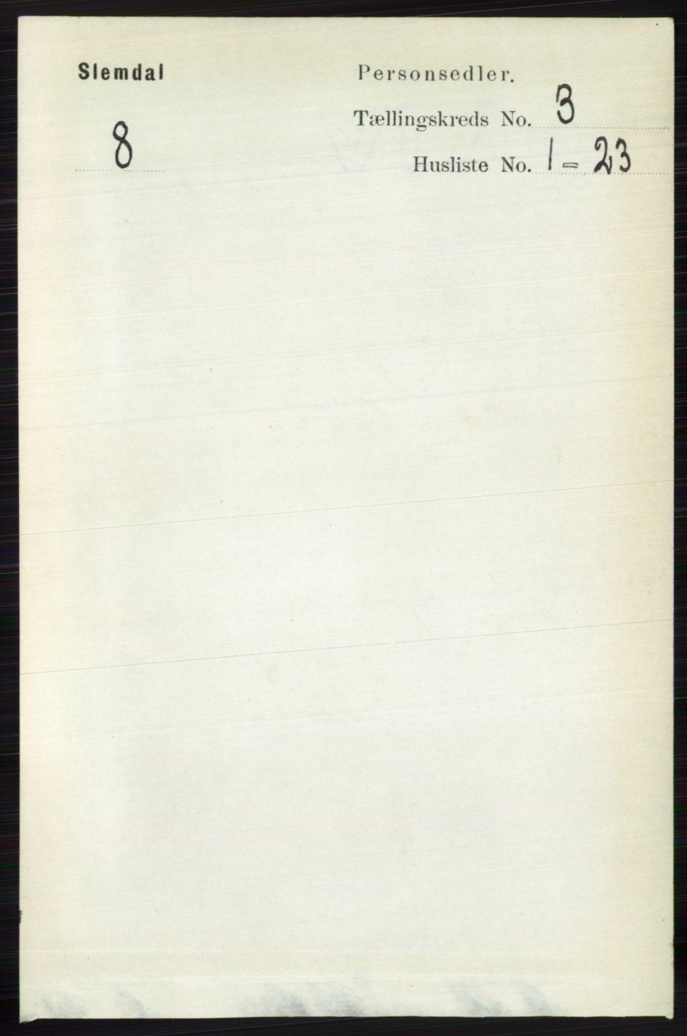 RA, Folketelling 1891 for 0811 Slemdal herred, 1891, s. 753