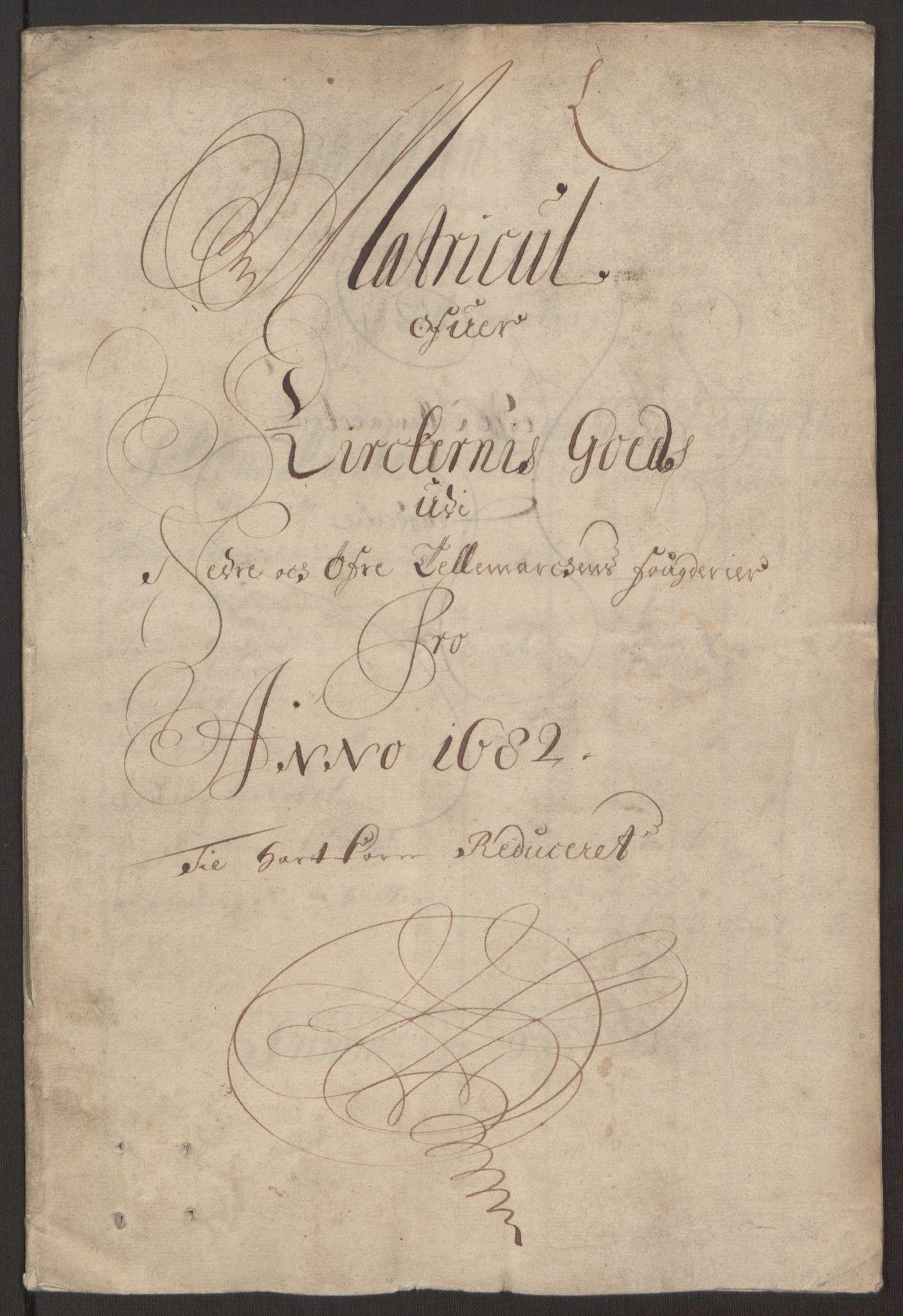 RA, Rentekammeret inntil 1814, Reviderte regnskaper, Fogderegnskap, R35/L2078: Fogderegnskap Øvre og Nedre Telemark, 1680-1684, s. 294