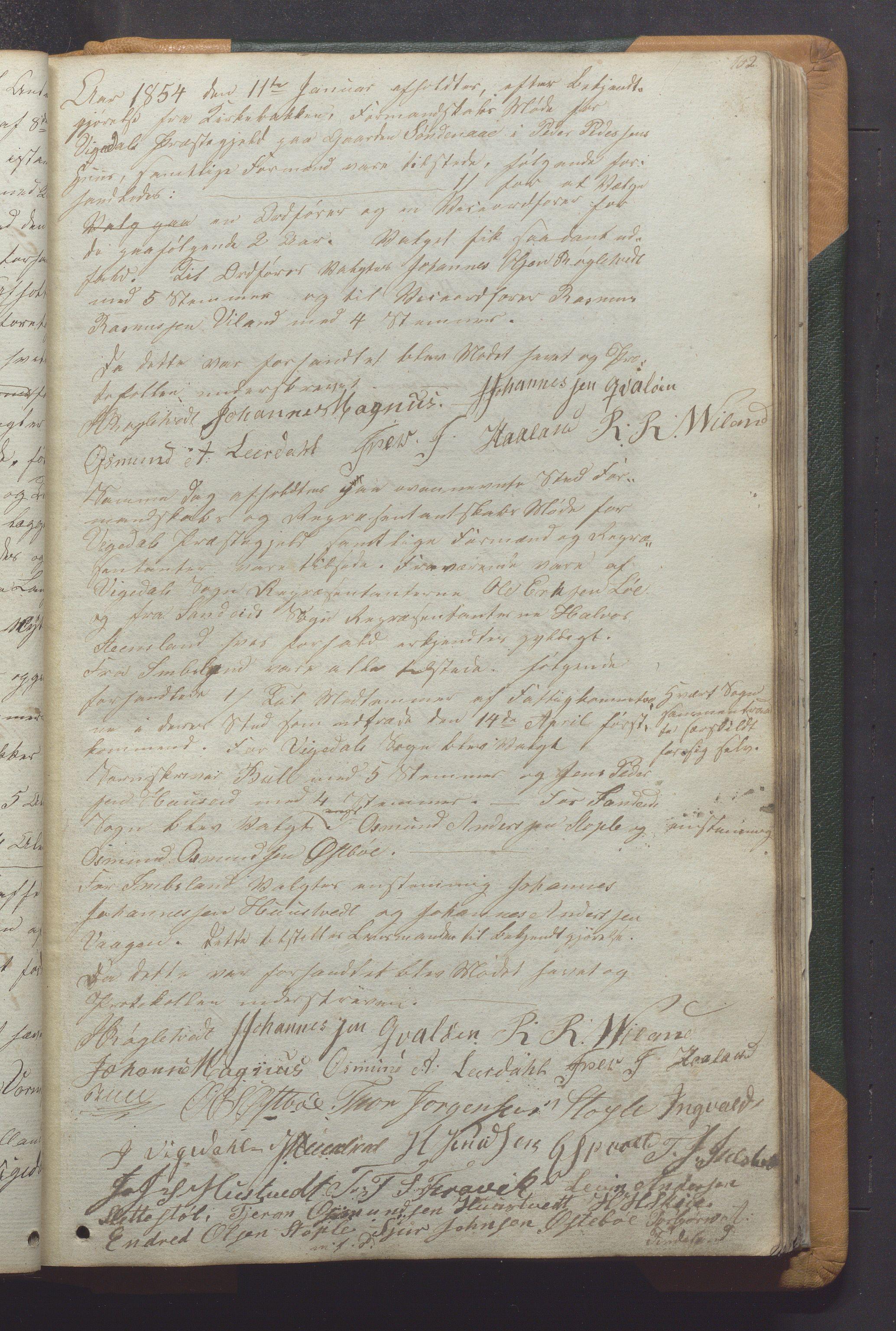IKAR, Vikedal kommune - Formannskapet, Aaa/L0001: Møtebok, 1837-1874, s. 102a
