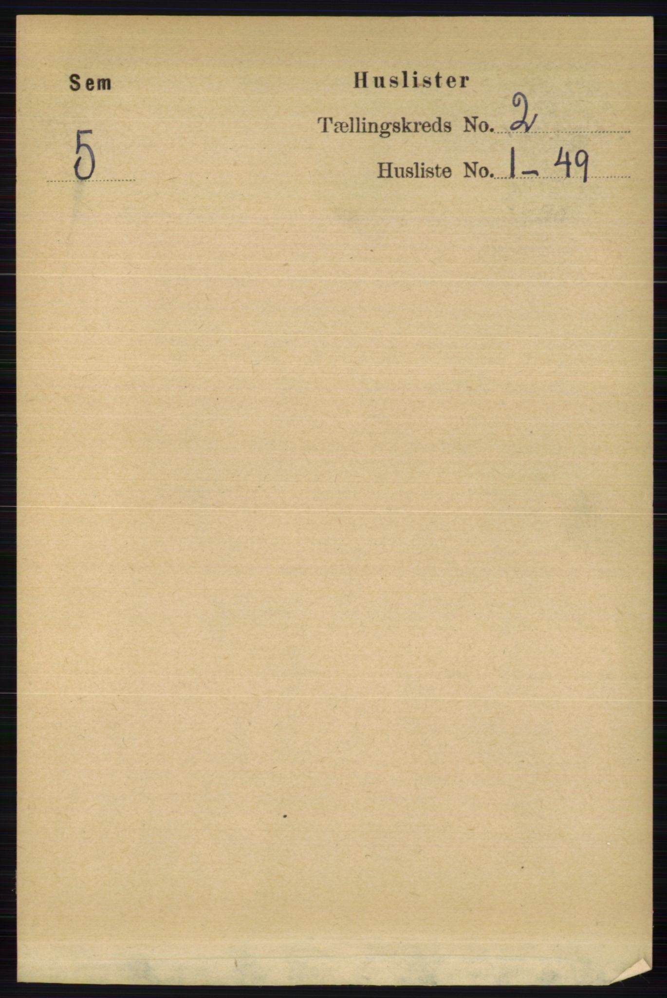 RA, Folketelling 1891 for 0721 Sem herred, 1891, s. 587