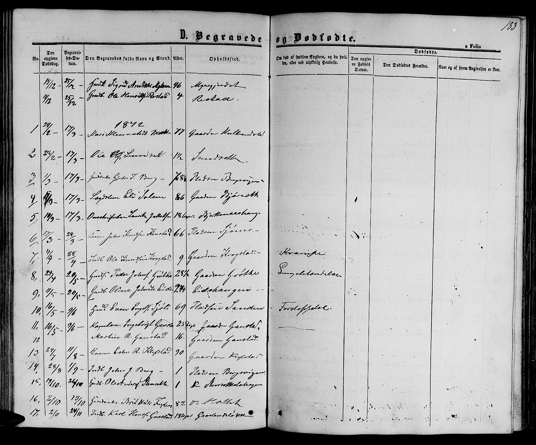 SAT, Ministerialprotokoller, klokkerbøker og fødselsregistre - Sør-Trøndelag, 694/L1131: Klokkerbok nr. 694C03, 1858-1886, s. 183