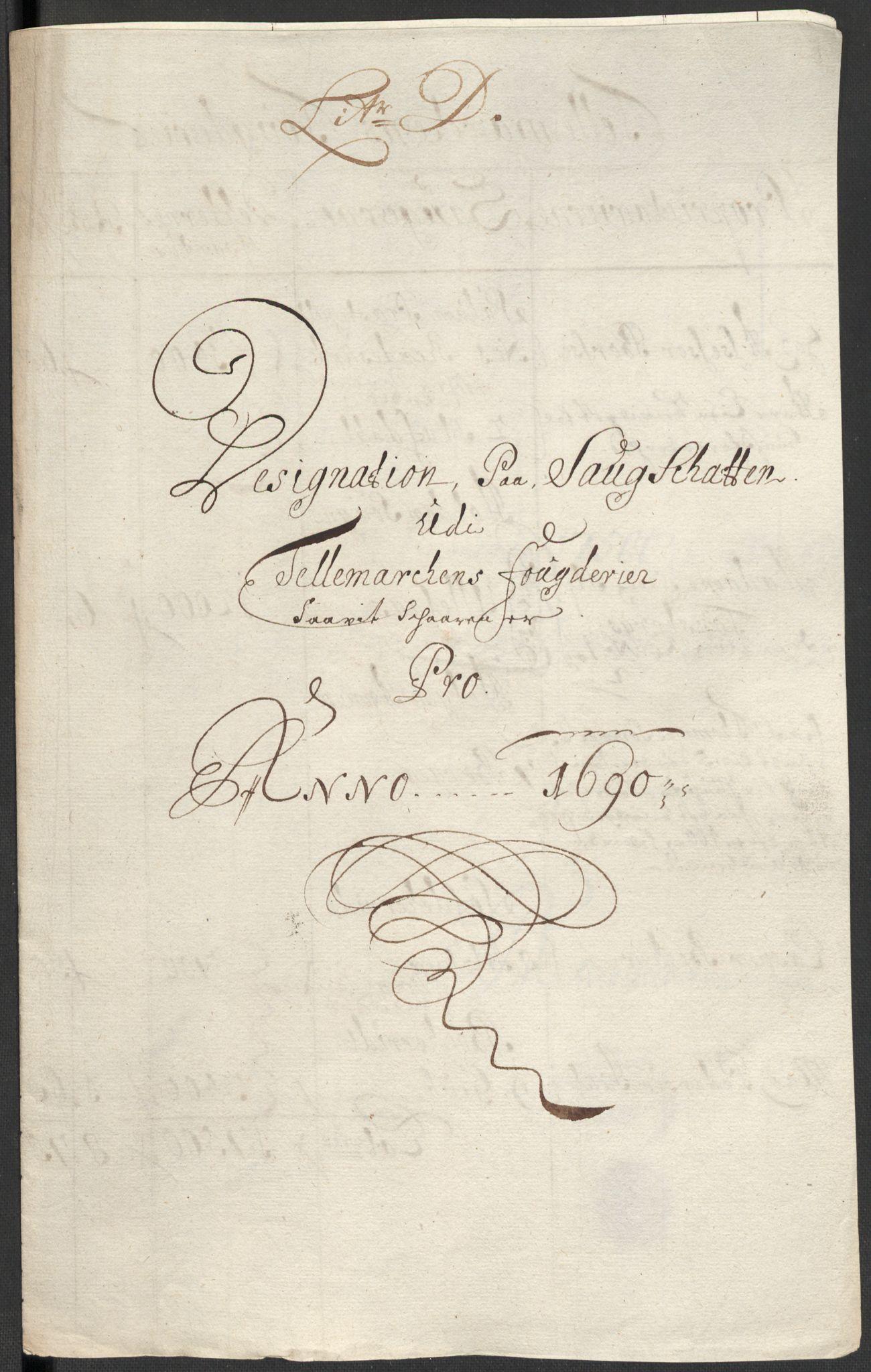 RA, Rentekammeret inntil 1814, Reviderte regnskaper, Fogderegnskap, R35/L2089: Fogderegnskap Øvre og Nedre Telemark, 1690-1692, s. 65