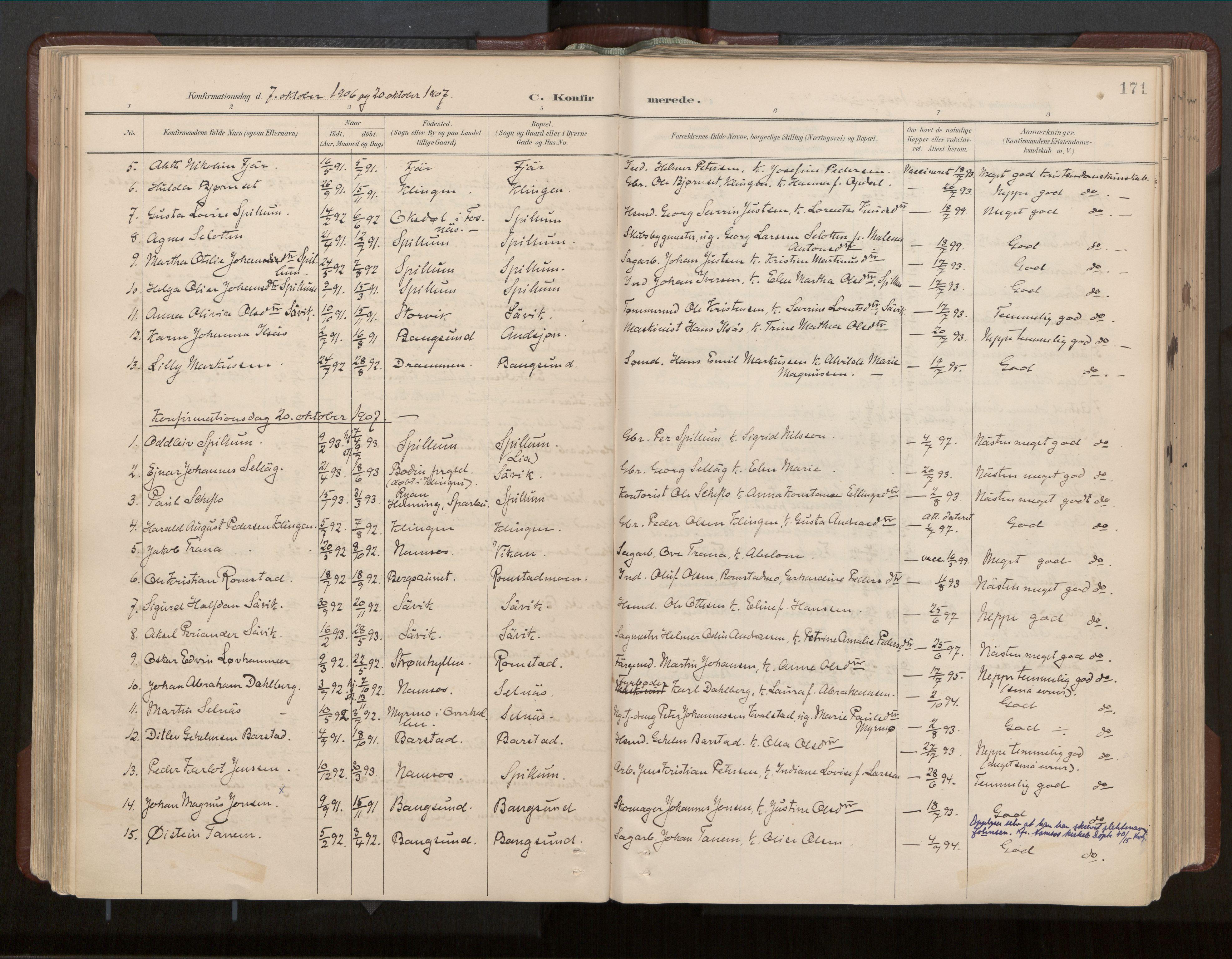 SAT, Ministerialprotokoller, klokkerbøker og fødselsregistre - Nord-Trøndelag, 770/L0589: Ministerialbok nr. 770A03, 1887-1929, s. 171