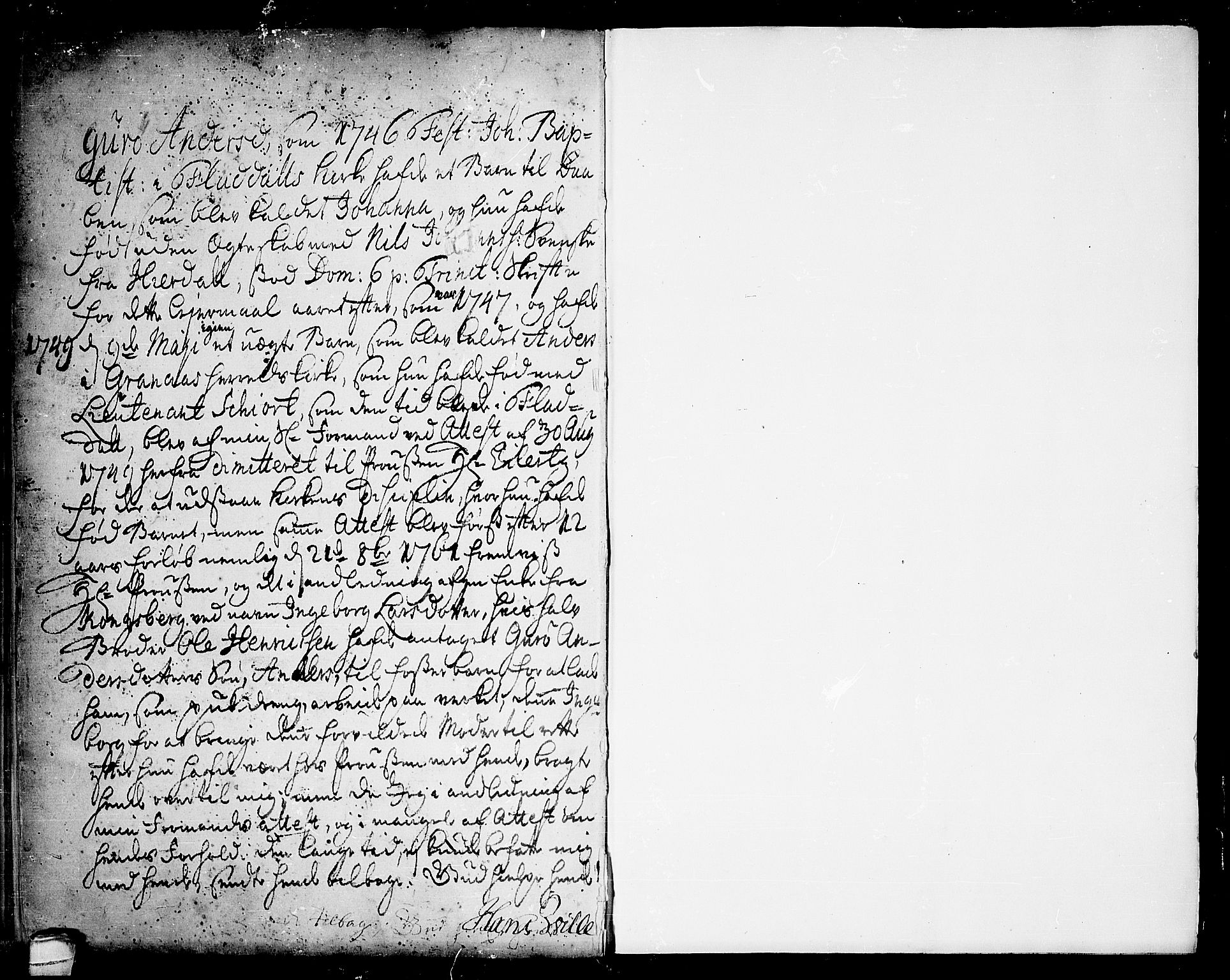 SAKO, Seljord kirkebøker, F/Fa/L0006: Ministerialbok nr. I 6, 1744-1755