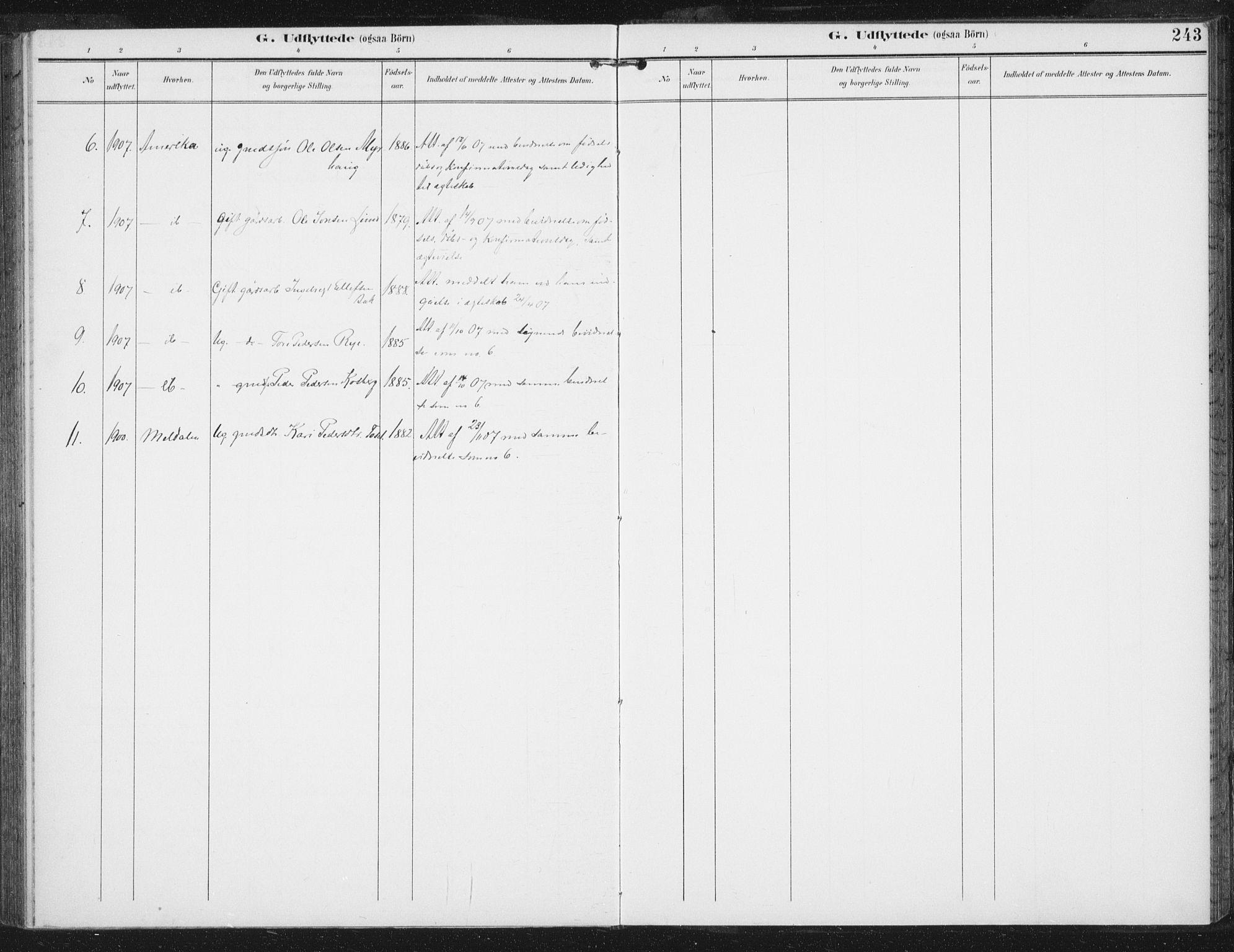 SAT, Ministerialprotokoller, klokkerbøker og fødselsregistre - Sør-Trøndelag, 674/L0872: Ministerialbok nr. 674A04, 1897-1907, s. 243