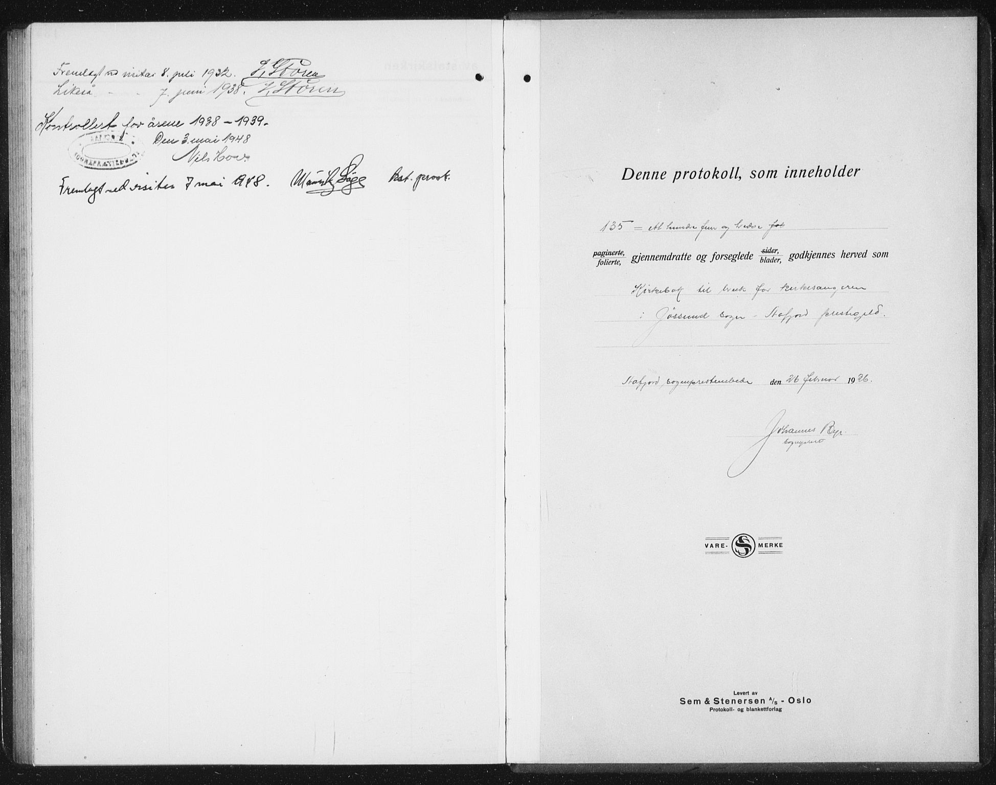 SAT, Ministerialprotokoller, klokkerbøker og fødselsregistre - Sør-Trøndelag, 654/L0667: Klokkerbok nr. 654C03, 1924-1939