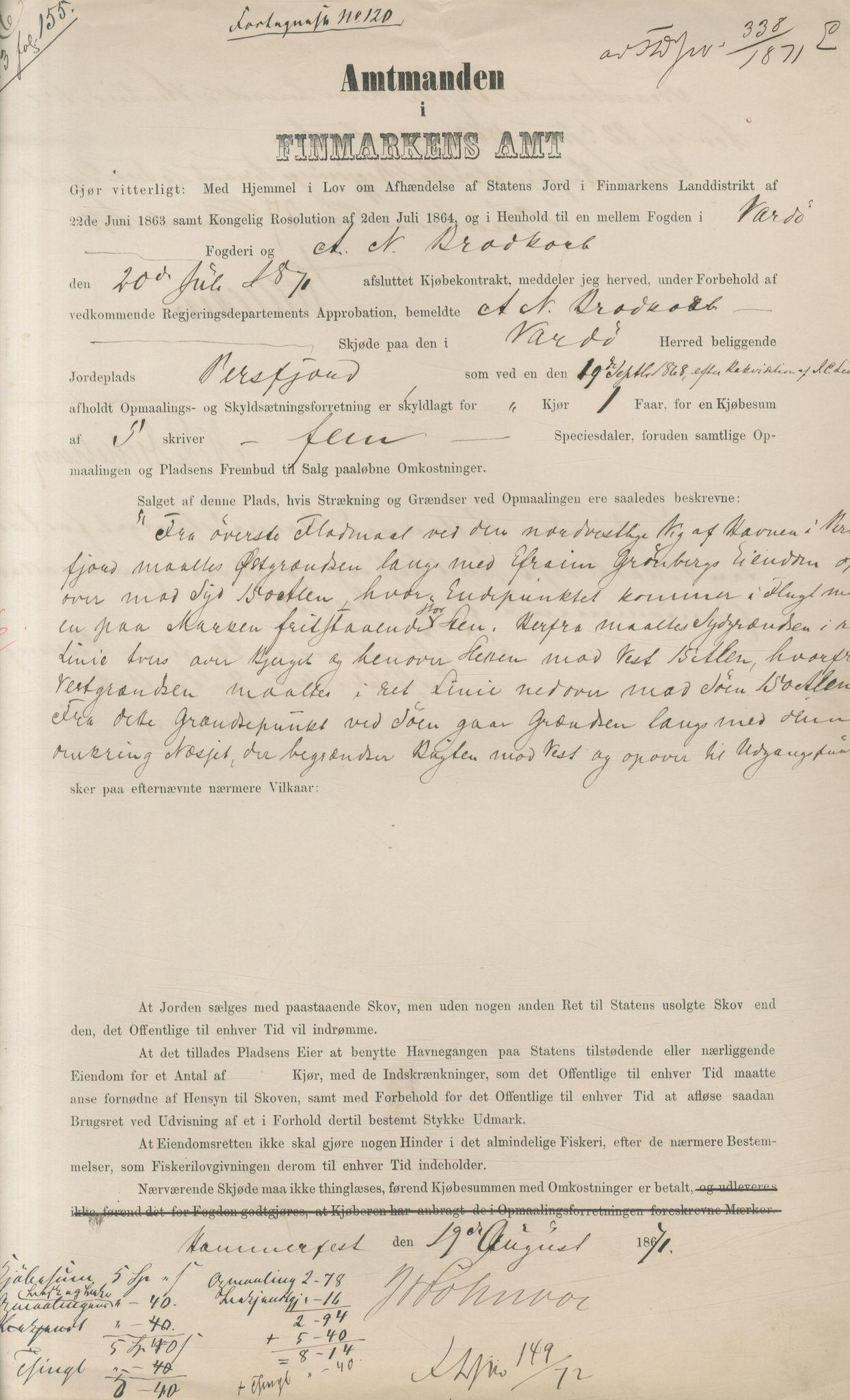 VAMU, Brodtkorb handel A/S, Q/Qb/L0003: Faste eiendommer i Vardø Herred, 1862-1939, s. 80