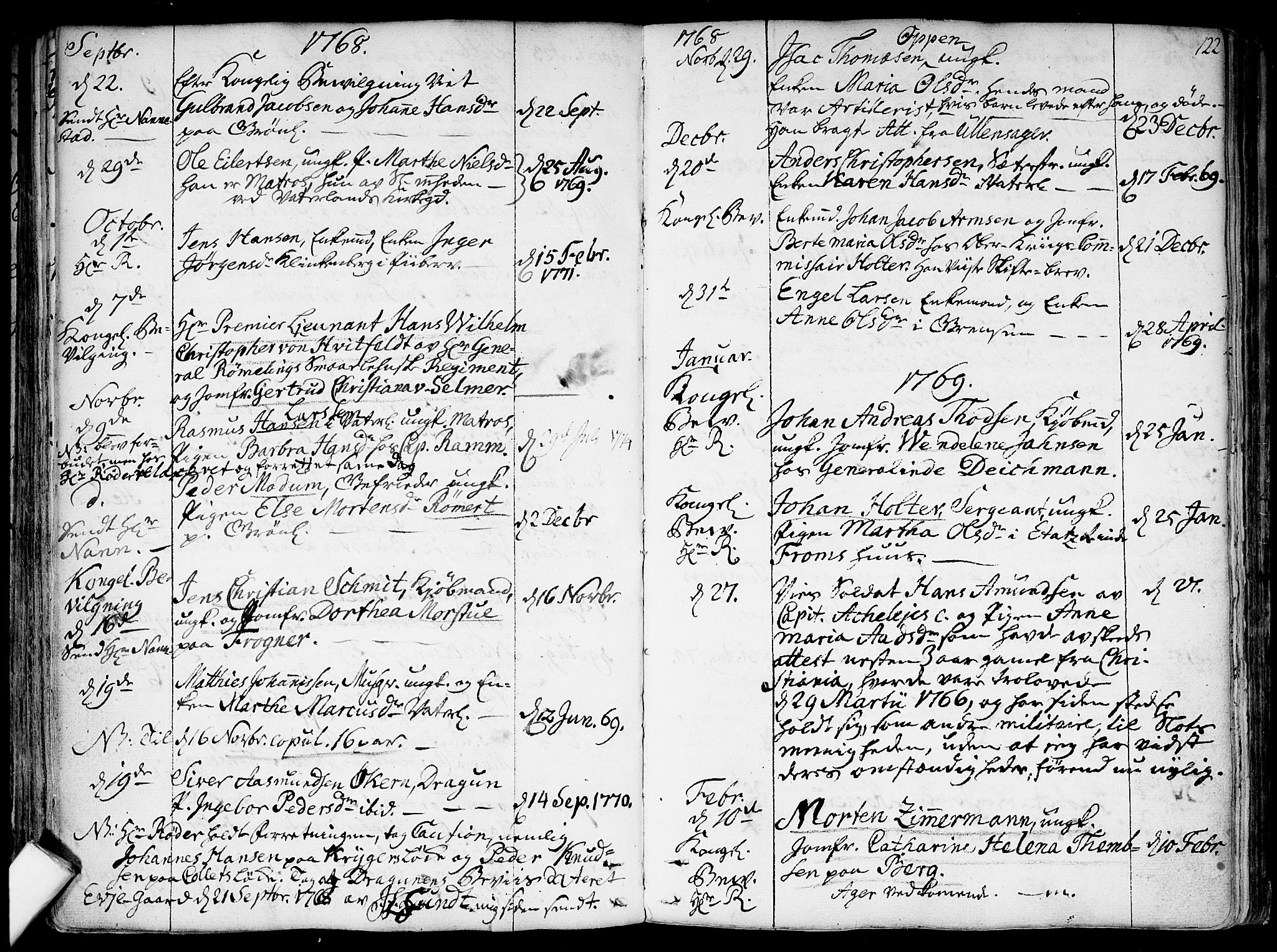 SAO, Garnisonsmenigheten Kirkebøker, F/Fa/L0002: Ministerialbok nr. 2, 1757-1776, s. 122
