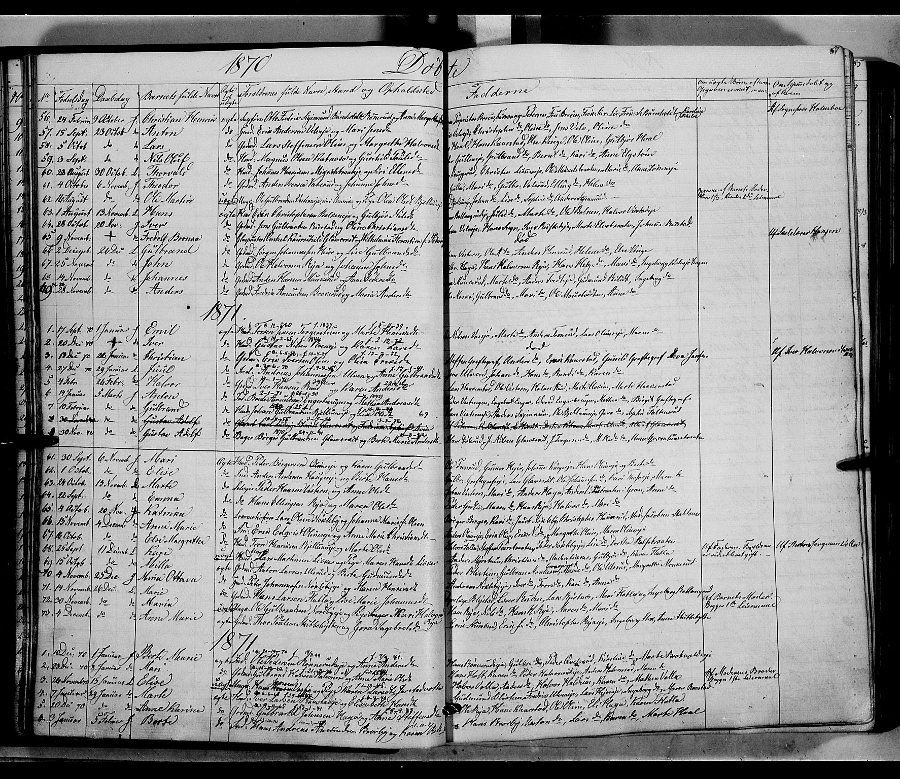 SAH, Jevnaker prestekontor, Ministerialbok nr. 7, 1858-1876, s. 67