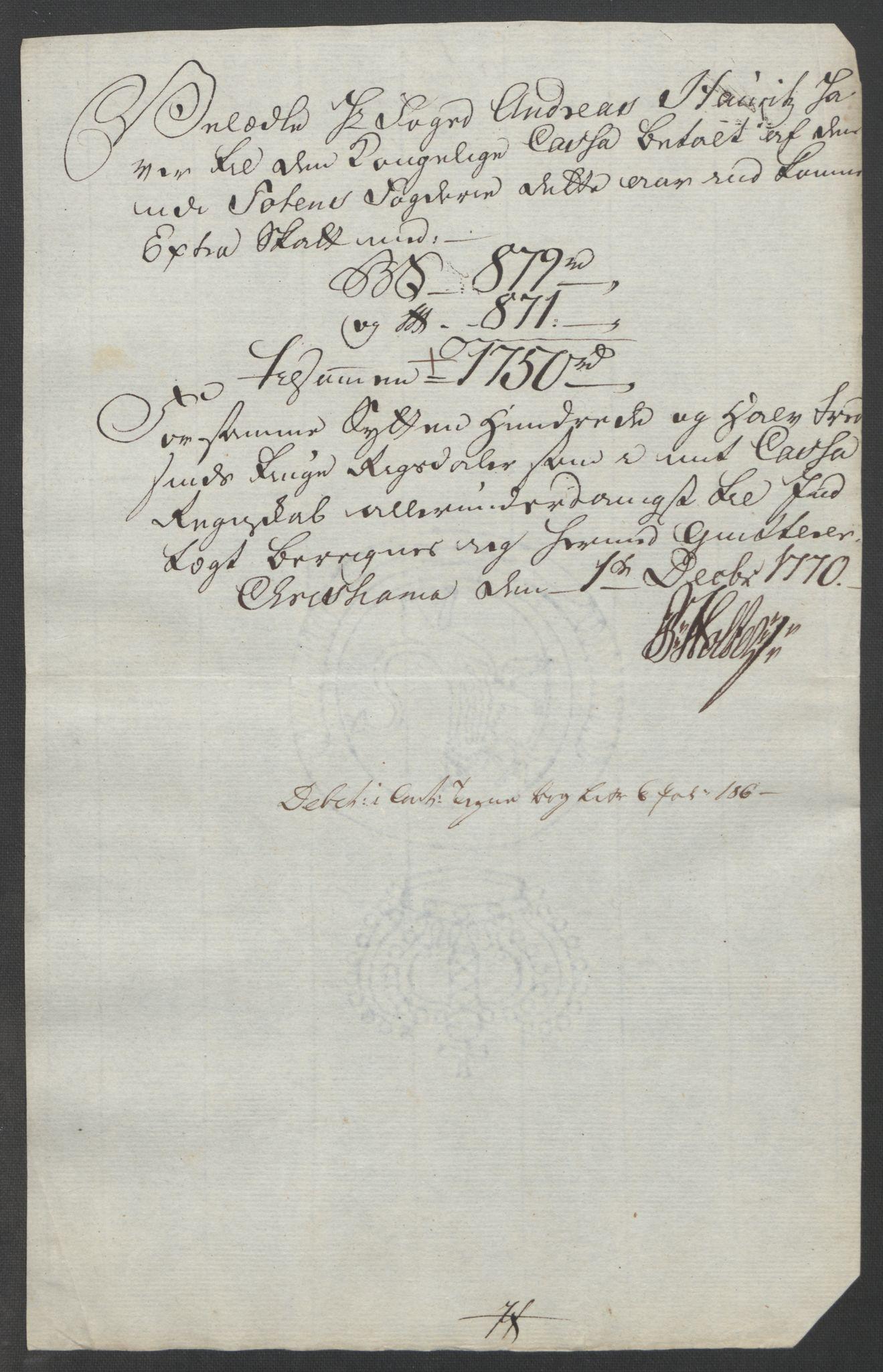RA, Rentekammeret inntil 1814, Reviderte regnskaper, Fogderegnskap, R19/L1399: Fogderegnskap Toten, Hadeland og Vardal, 1762-1783, s. 199