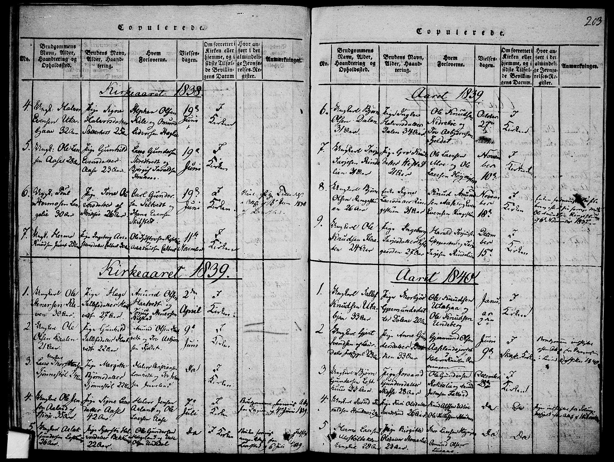 SAKO, Mo kirkebøker, F/Fa/L0004: Ministerialbok nr. I 4, 1814-1844, s. 203