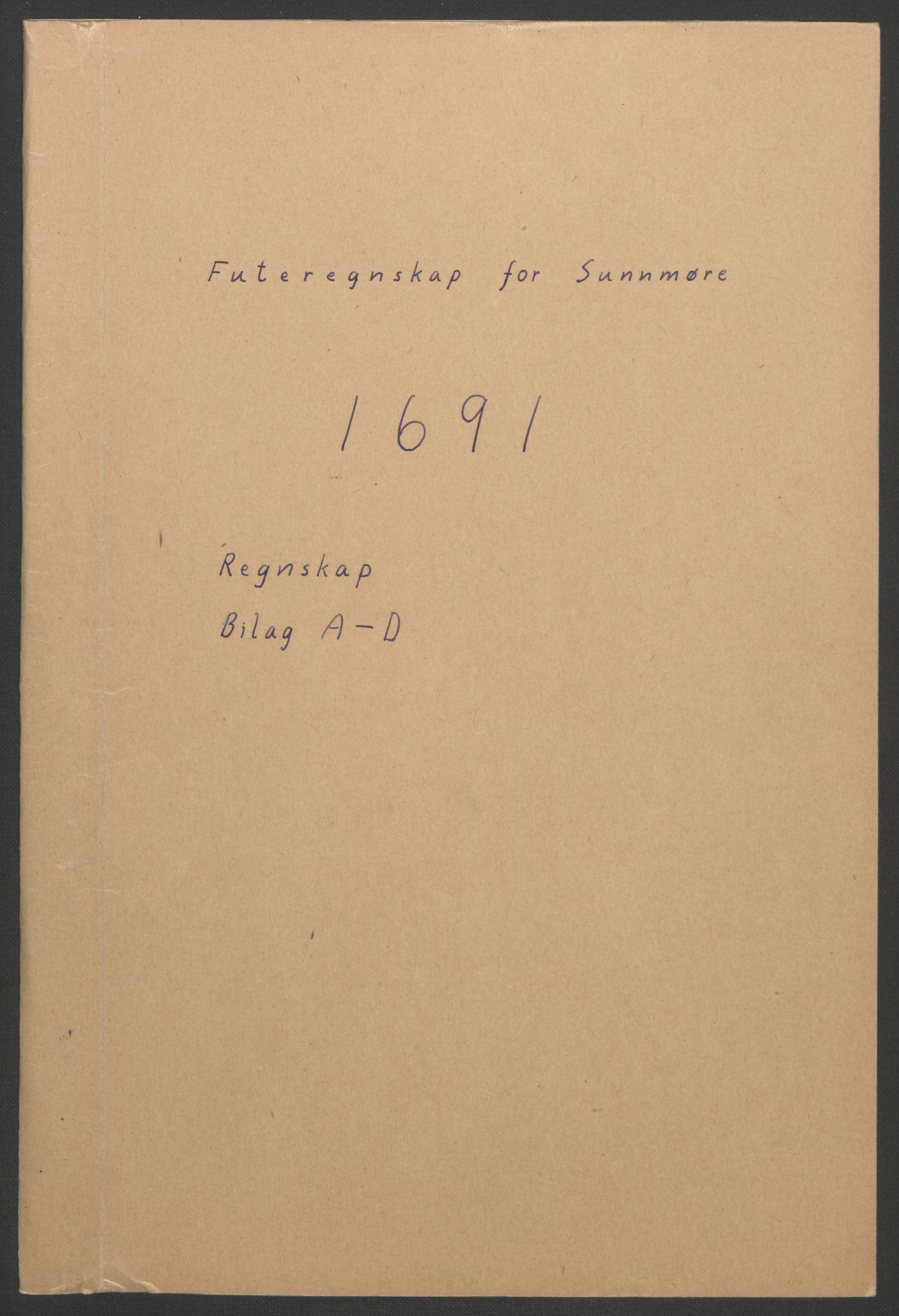 RA, Rentekammeret inntil 1814, Reviderte regnskaper, Fogderegnskap, R54/L3554: Fogderegnskap Sunnmøre, 1691-1693, s. 3