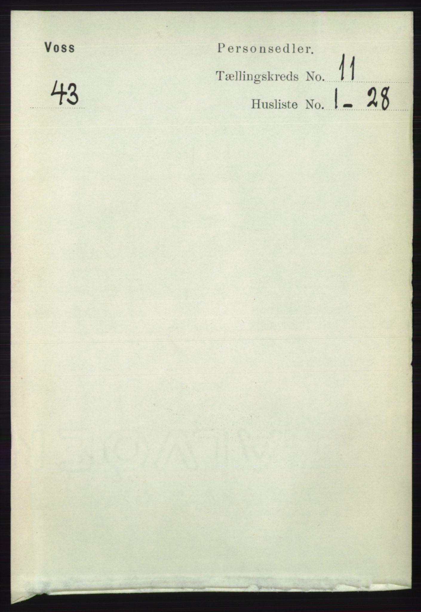 RA, Folketelling 1891 for 1235 Voss herred, 1891, s. 5827