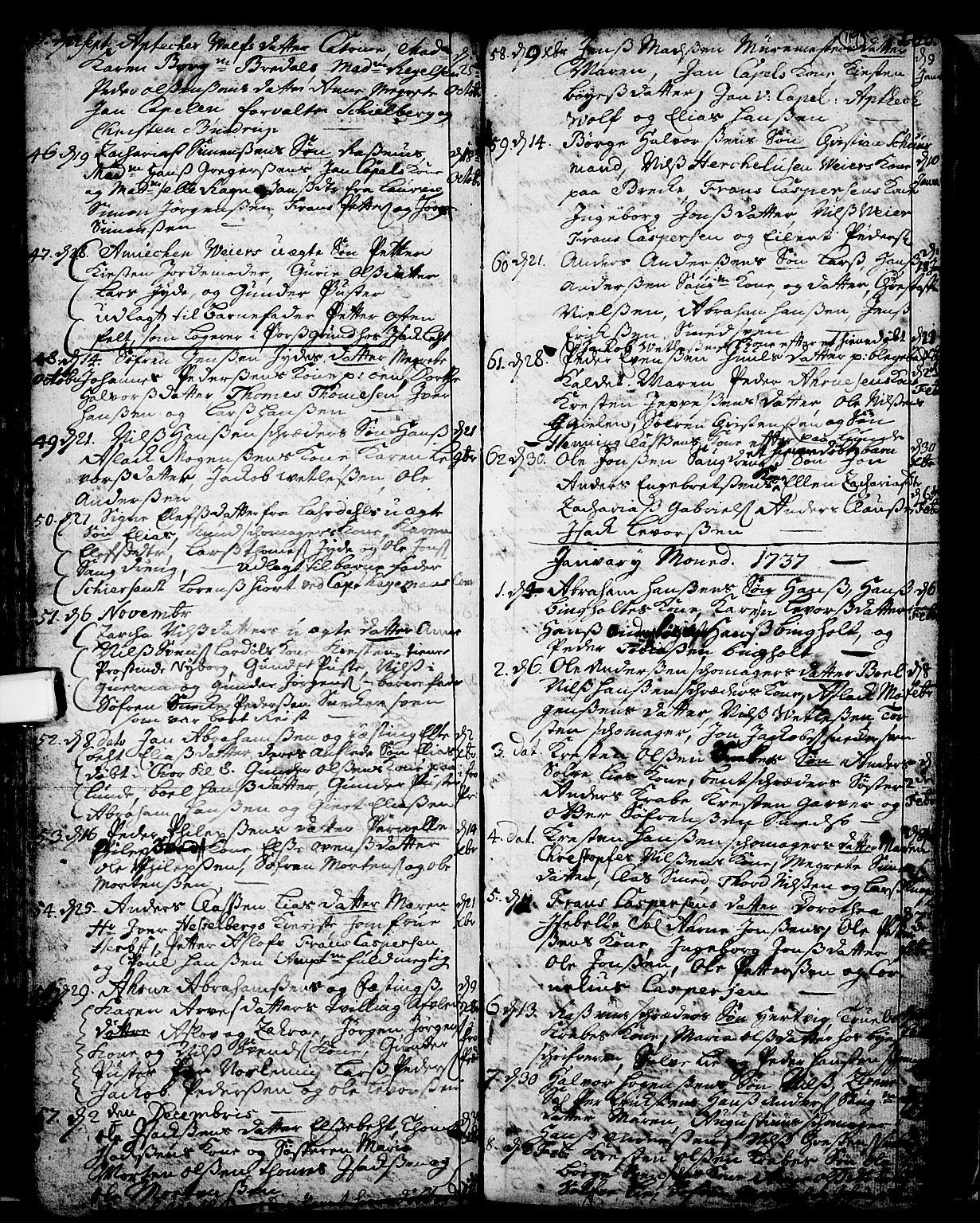 SAKO, Skien kirkebøker, F/Fa/L0002: Ministerialbok nr. 2, 1716-1757, s. 119
