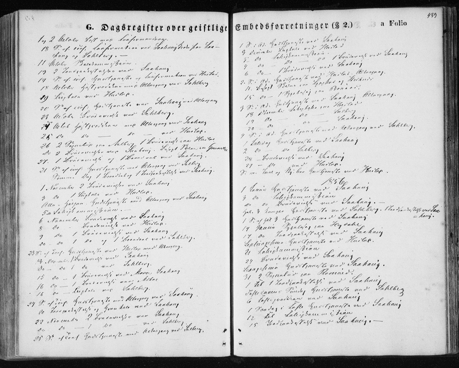 SAT, Ministerialprotokoller, klokkerbøker og fødselsregistre - Nord-Trøndelag, 730/L0283: Ministerialbok nr. 730A08, 1855-1865, s. 439