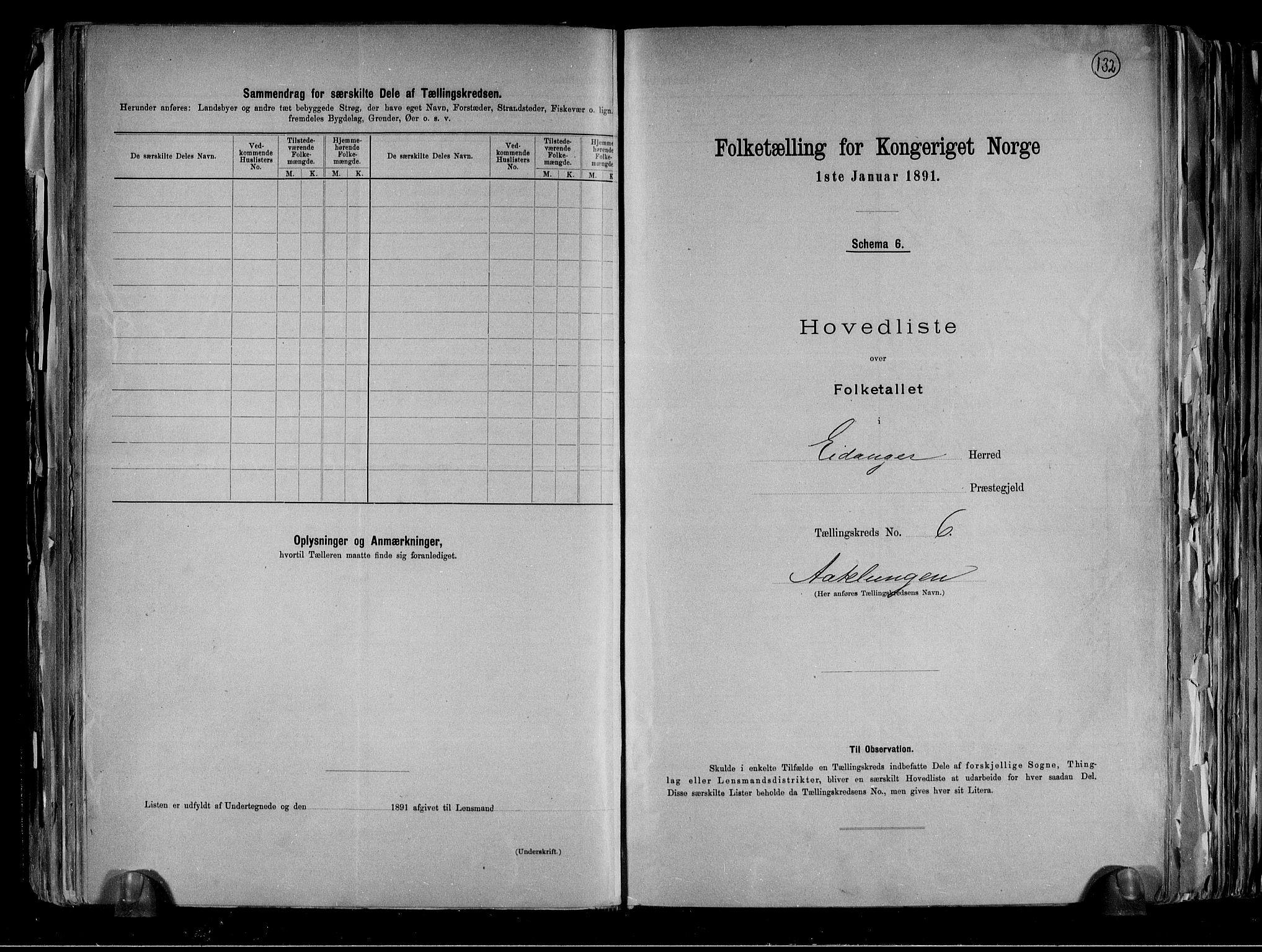 RA, Folketelling 1891 for 0813 Eidanger herred, 1891, s. 18
