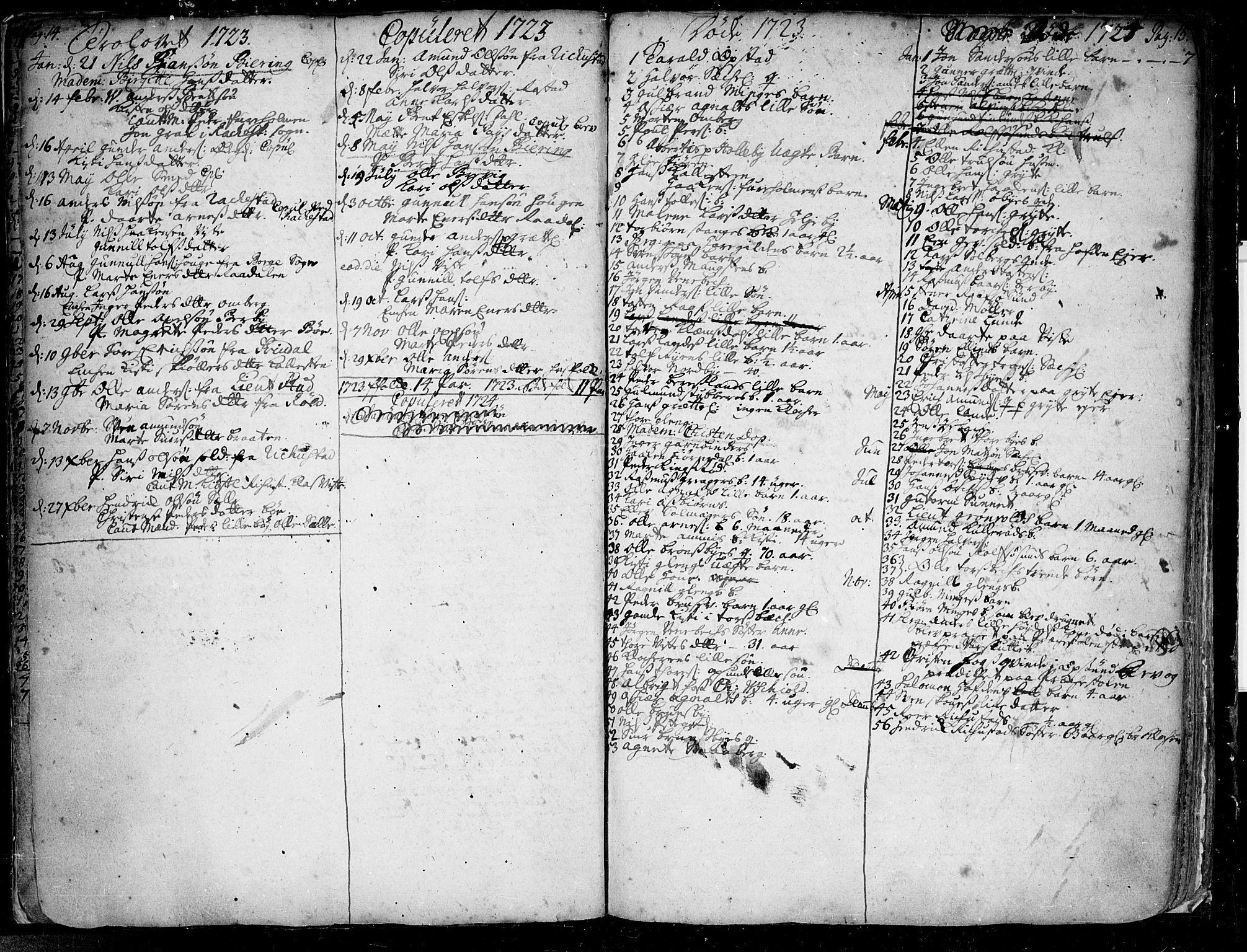 SAO, Tune prestekontor Kirkebøker, F/Fa/L0001: Ministerialbok nr. 1, 1720-1758, s. 14-15