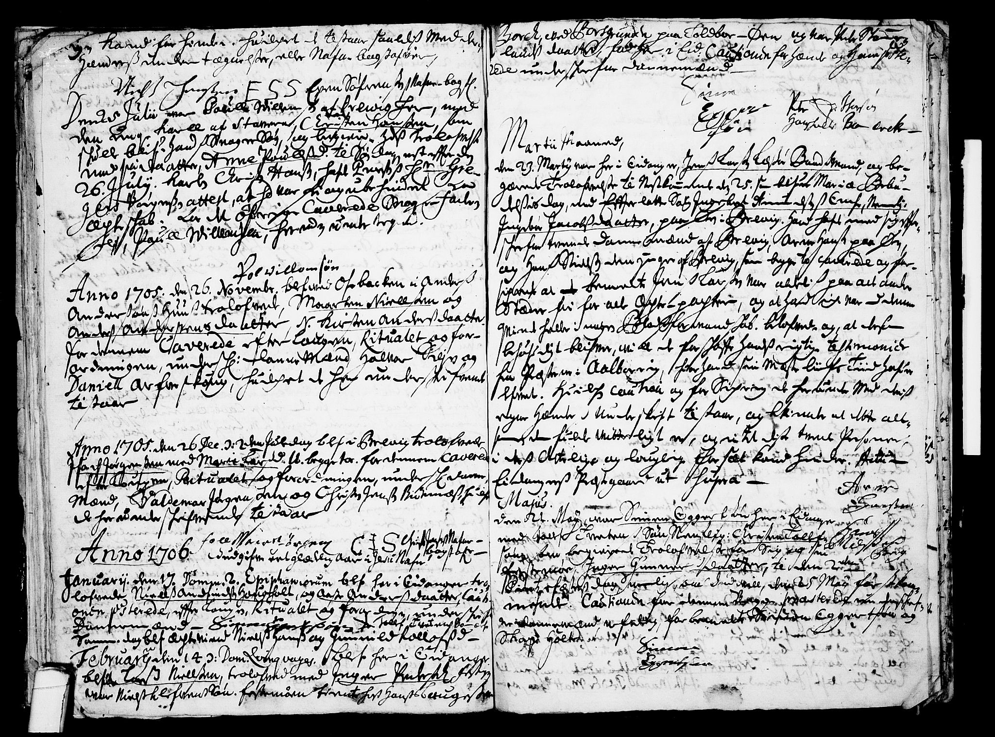 SAKO, Eidanger kirkebøker, F/Fa/L0001: Ministerialbok nr. 1, 1695-1717, s. 24