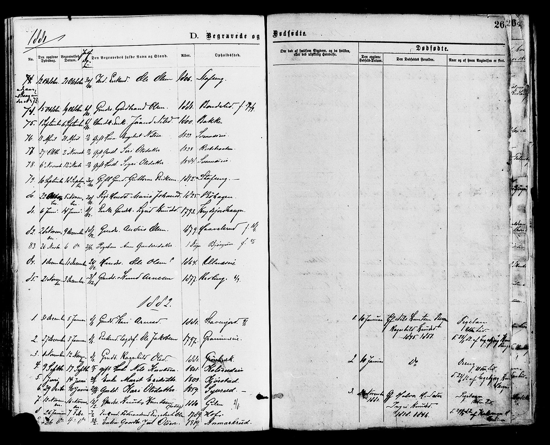 SAH, Nord-Aurdal prestekontor, Ministerialbok nr. 9, 1876-1882, s. 263