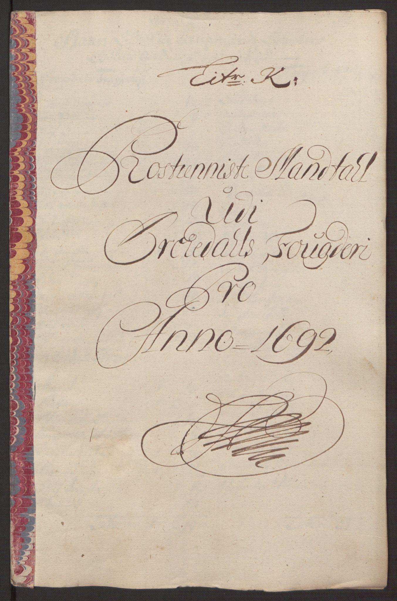 RA, Rentekammeret inntil 1814, Reviderte regnskaper, Fogderegnskap, R58/L3937: Fogderegnskap Orkdal, 1691-1692, s. 305