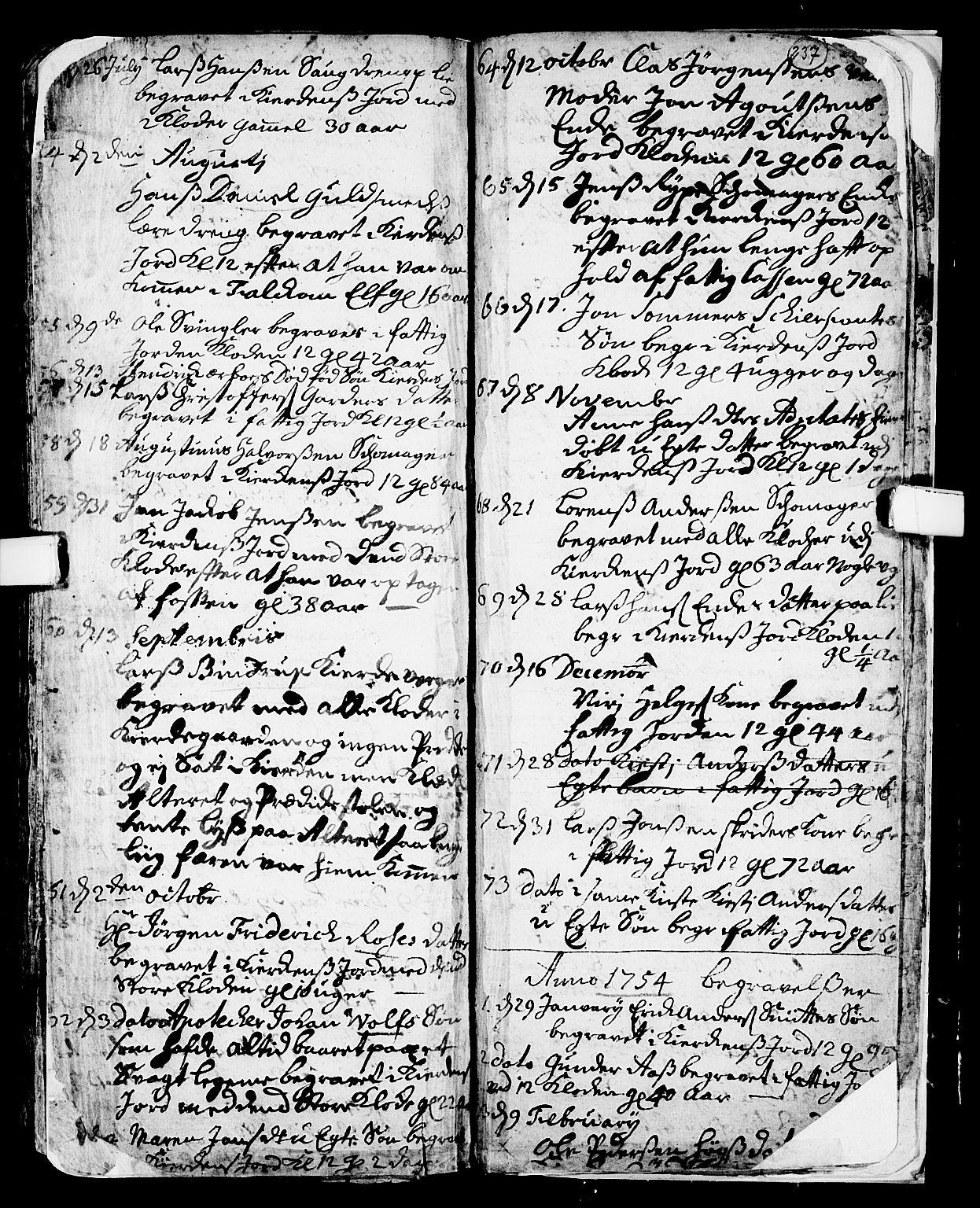 SAKO, Skien kirkebøker, F/Fa/L0002: Ministerialbok nr. 2, 1716-1757, s. 237