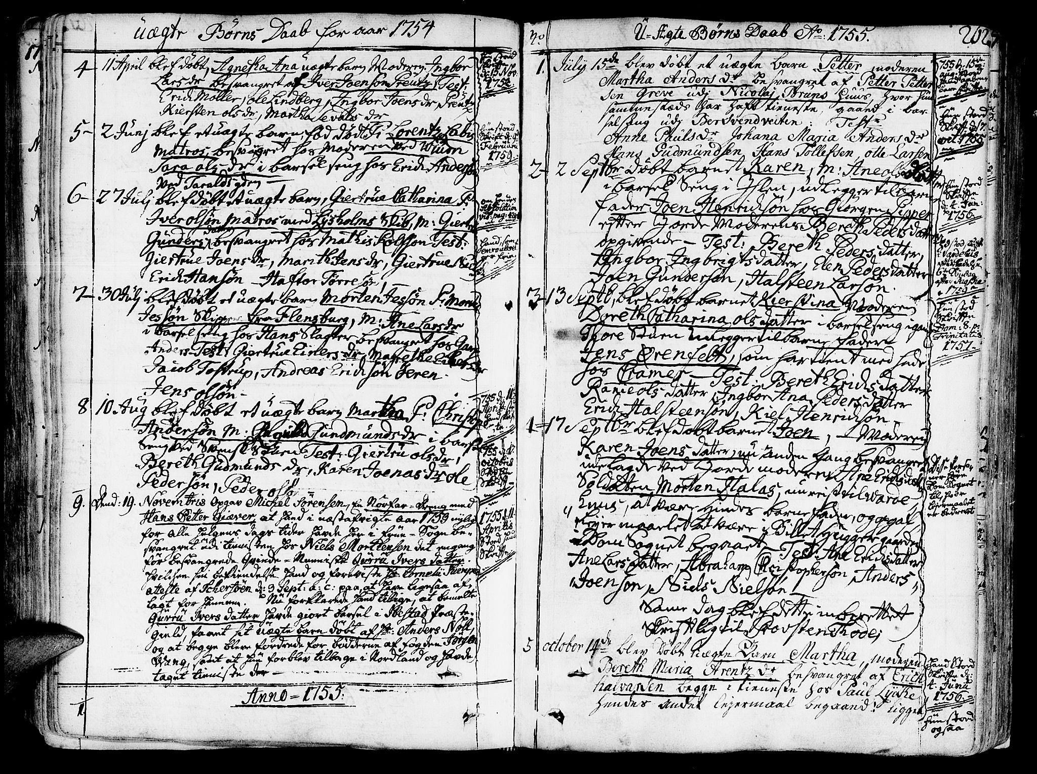 SAT, Ministerialprotokoller, klokkerbøker og fødselsregistre - Sør-Trøndelag, 602/L0103: Ministerialbok nr. 602A01, 1732-1774, s. 262