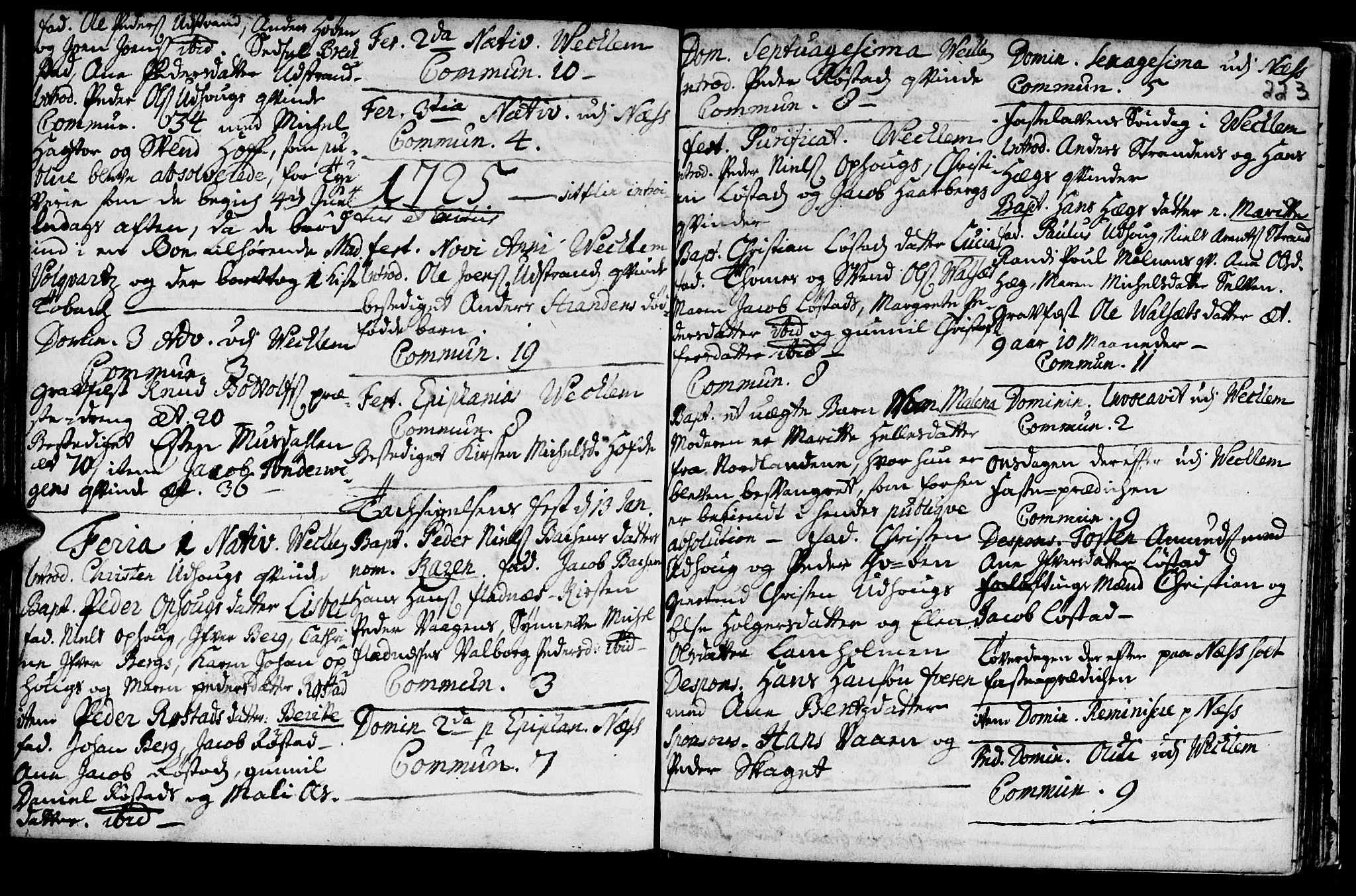 SAT, Ministerialprotokoller, klokkerbøker og fødselsregistre - Sør-Trøndelag, 659/L0731: Ministerialbok nr. 659A01, 1709-1731, s. 222-223
