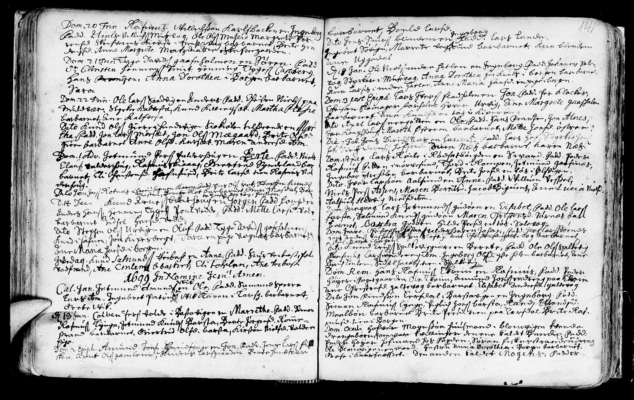SAT, Ministerialprotokoller, klokkerbøker og fødselsregistre - Møre og Romsdal, 528/L0390: Ministerialbok nr. 528A01, 1698-1739, s. 140-141